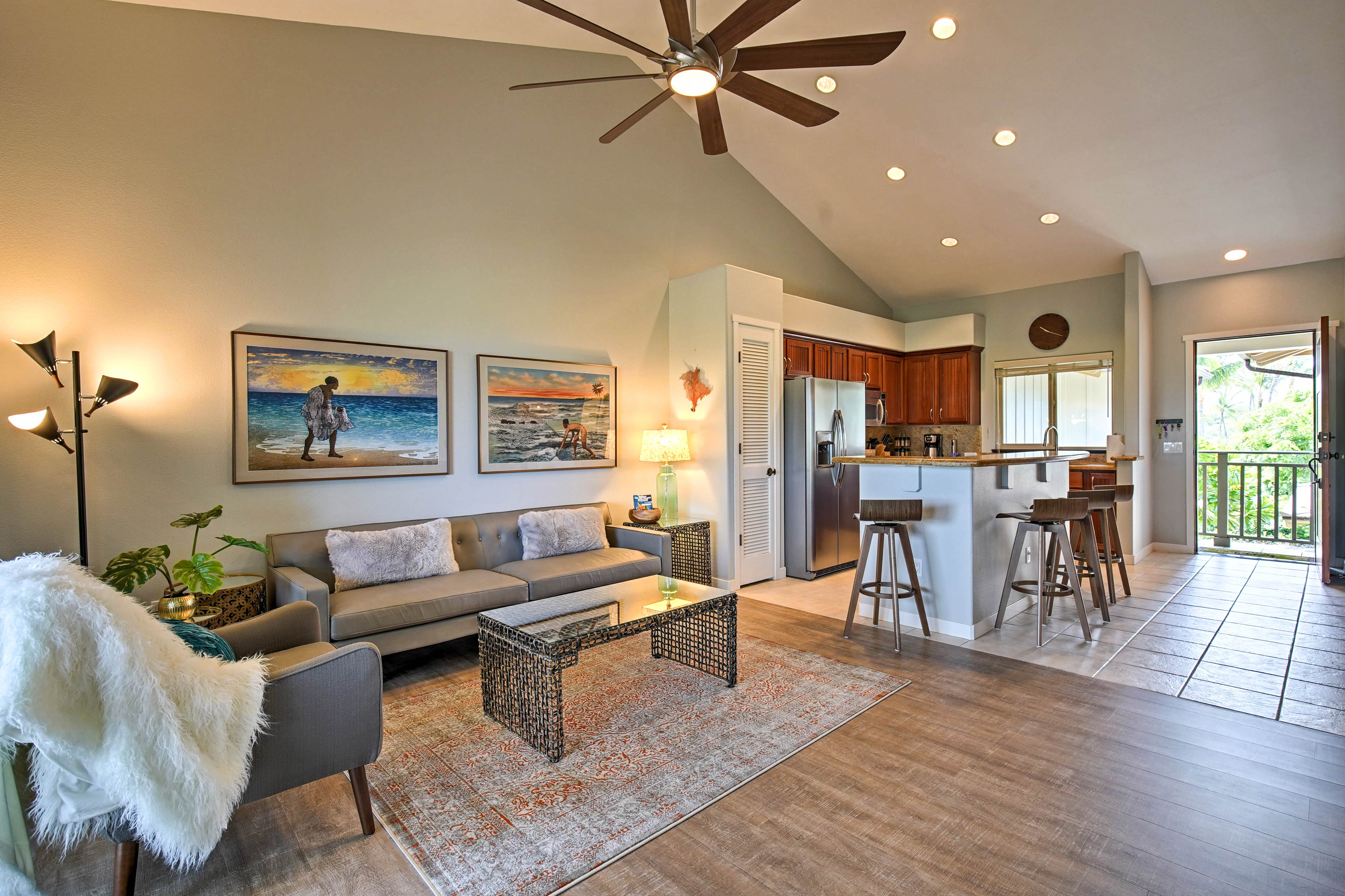 Step inside the 3-bed, 2-bath, 1,200-square-foot condo and get ready for fun!