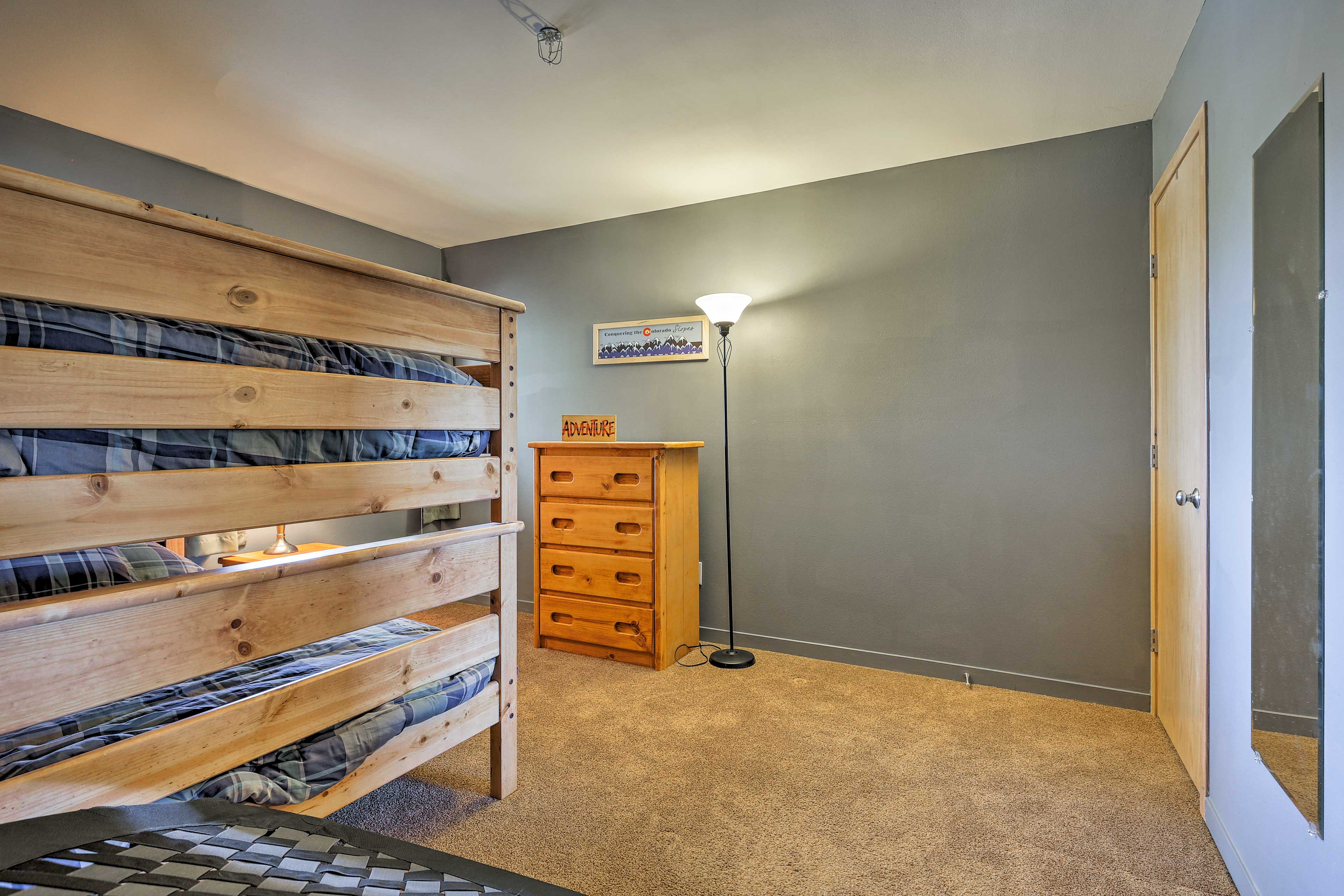 The kiddos will love a space all their own in the second bedroom.