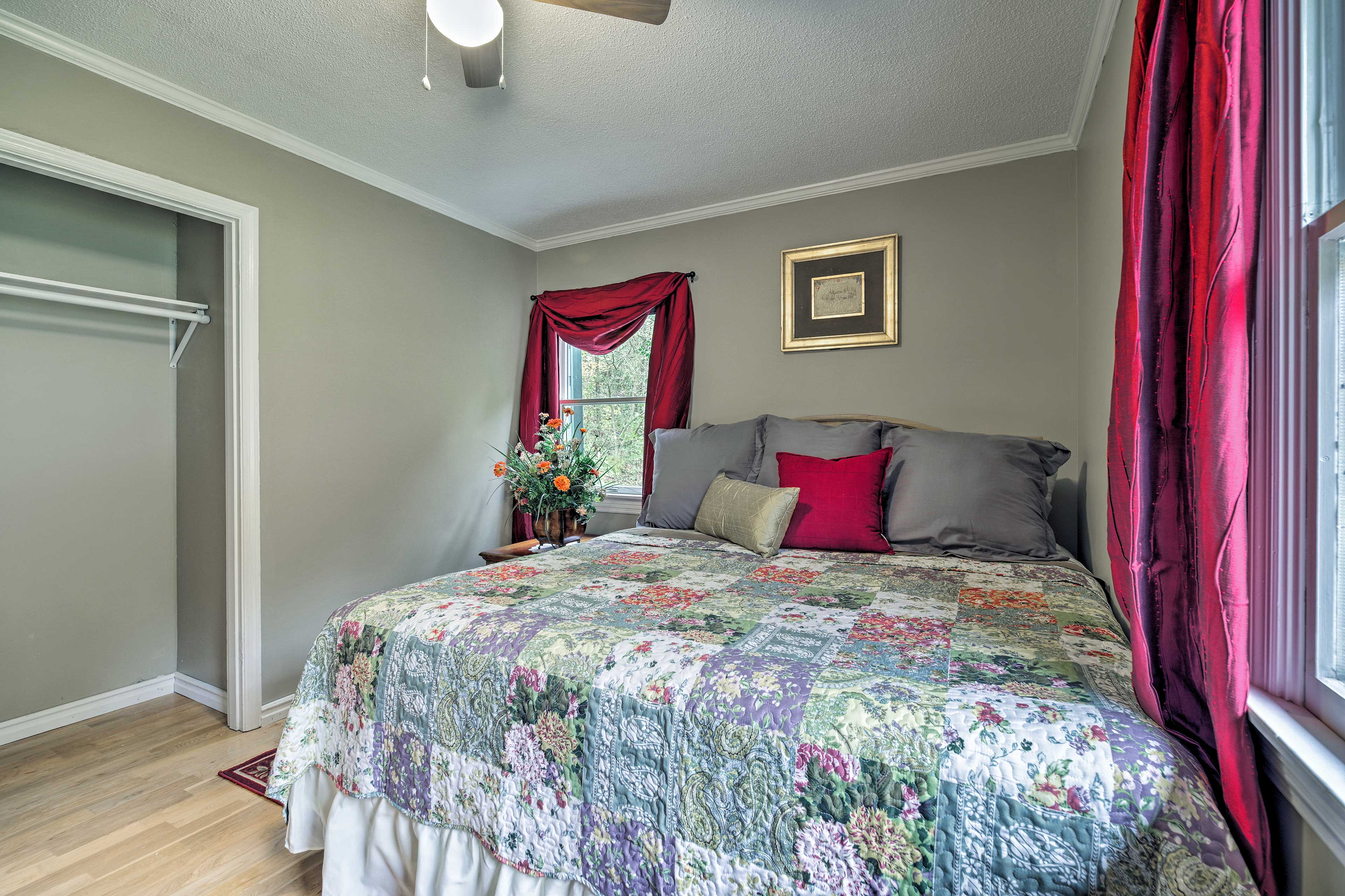 This room also features a large closet.