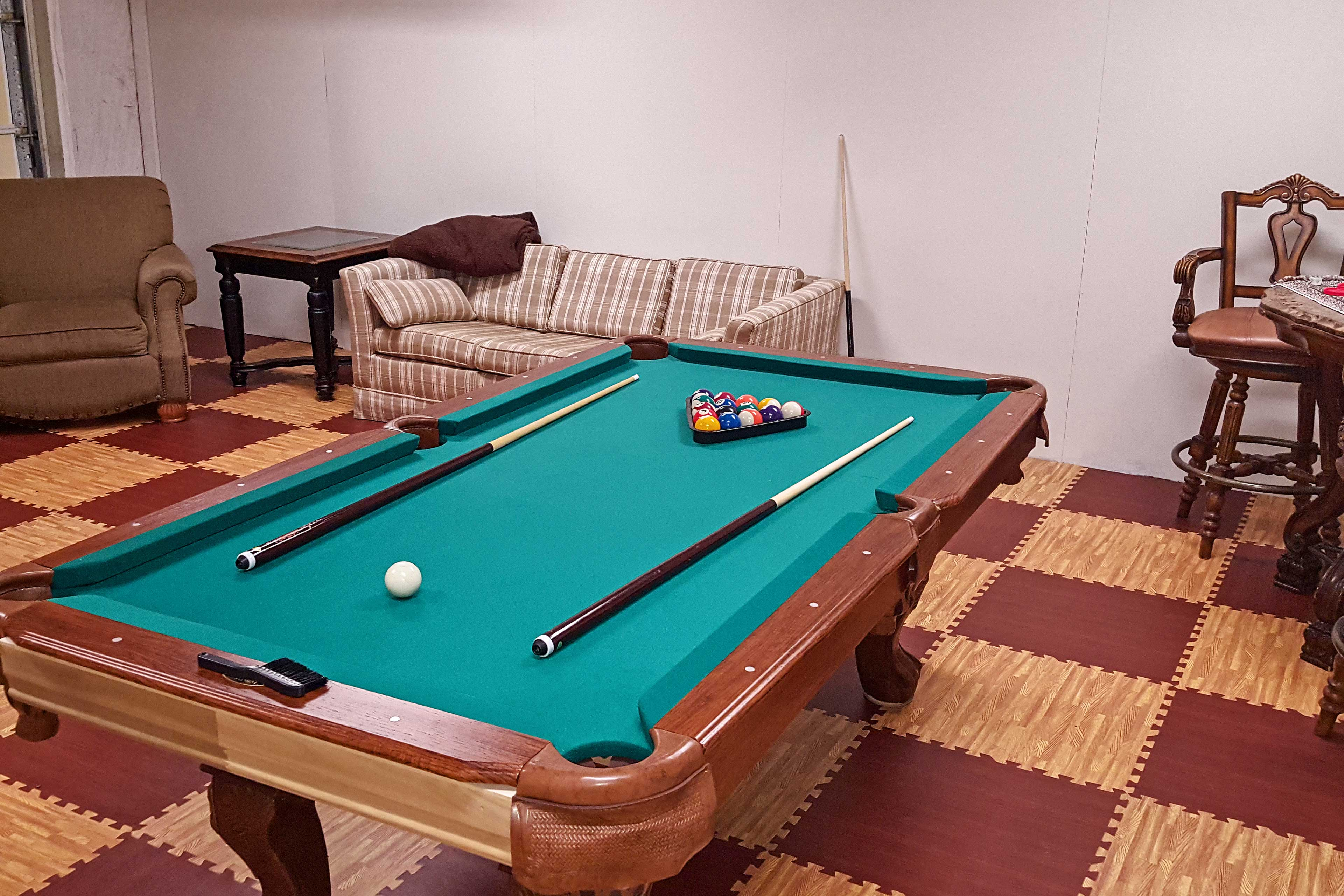 Rack 'em up and shoot some pool!
