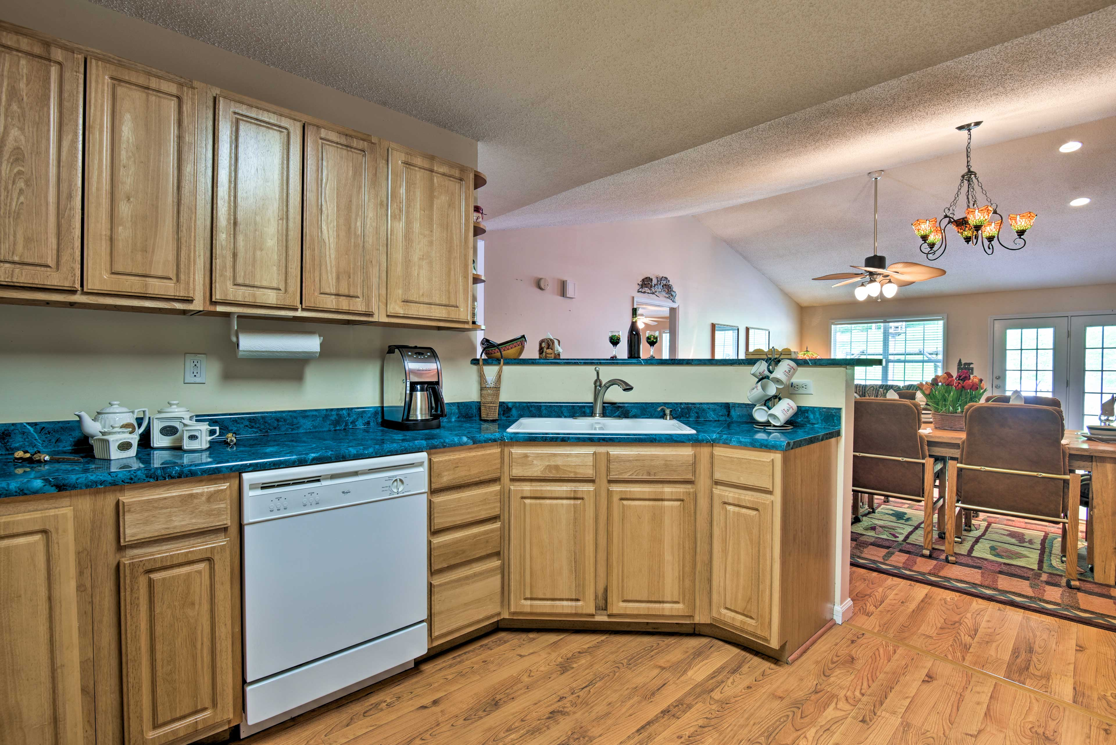 Prepare your signature dish on the expansive countertops.