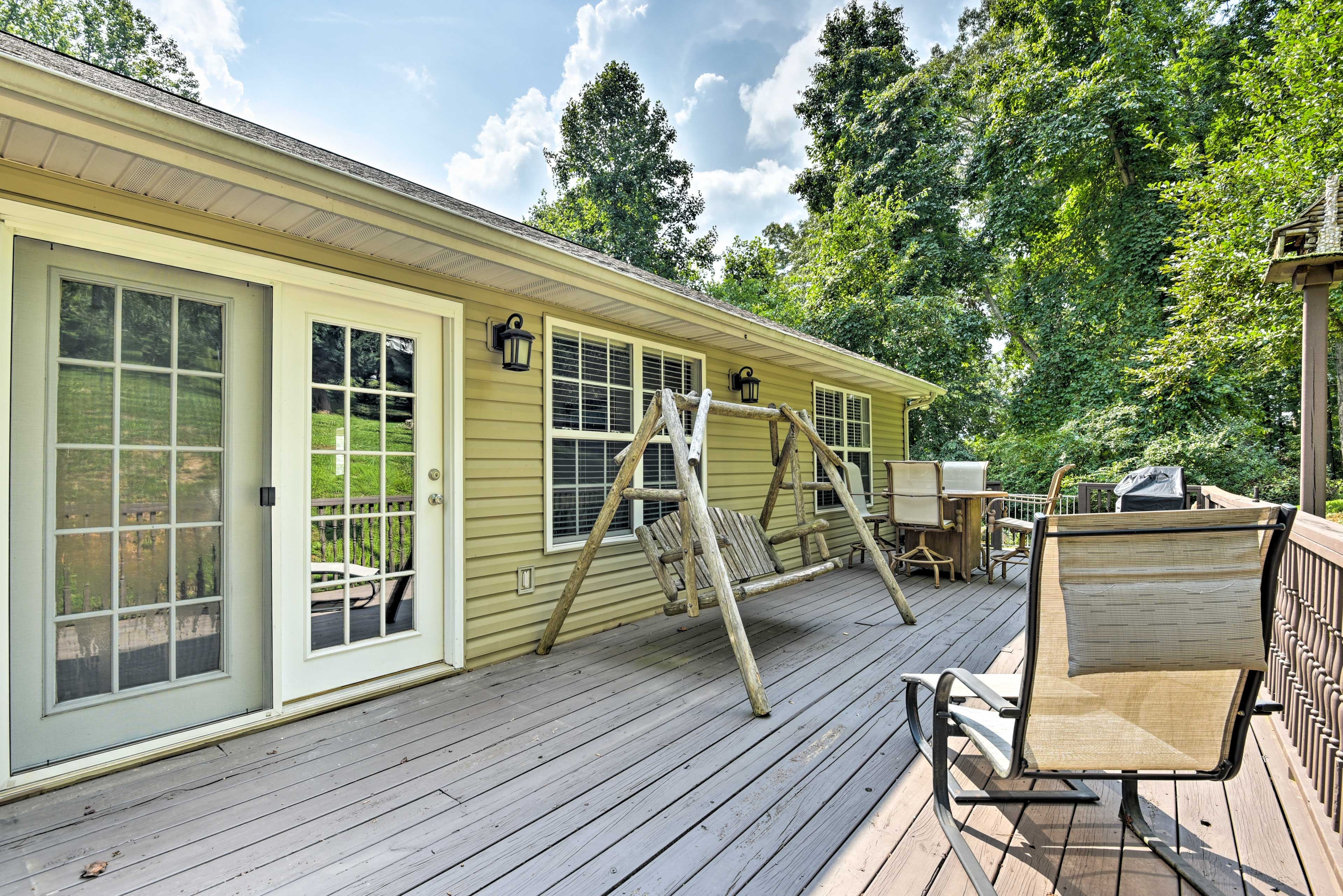 Soak up the sun on the large deck.