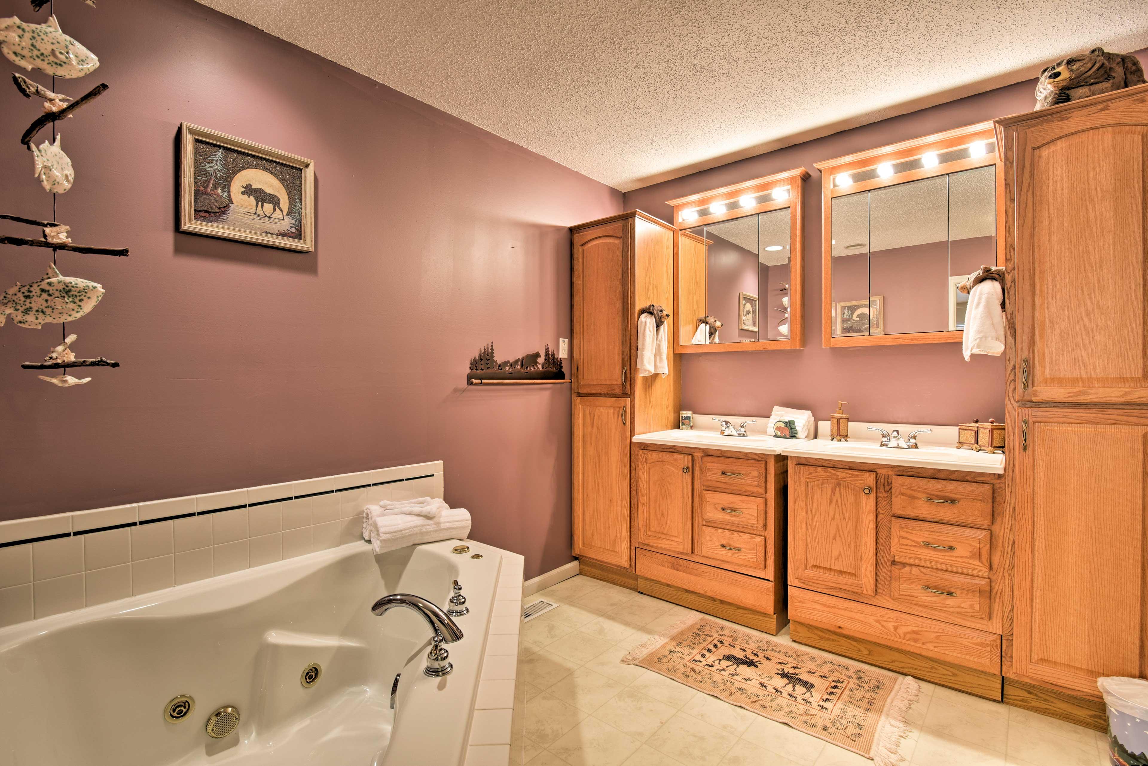 Take a relaxing soak in the tub.