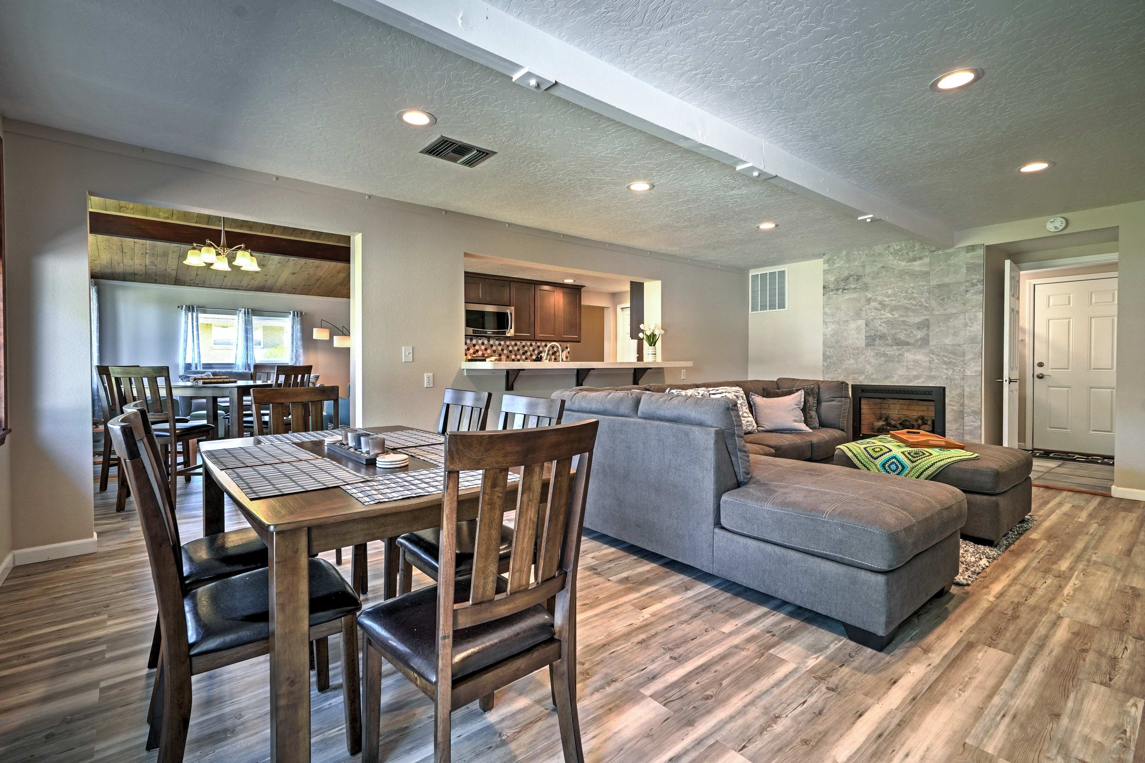 There's plenty of room for everyone in the 1,932-square-foot home.