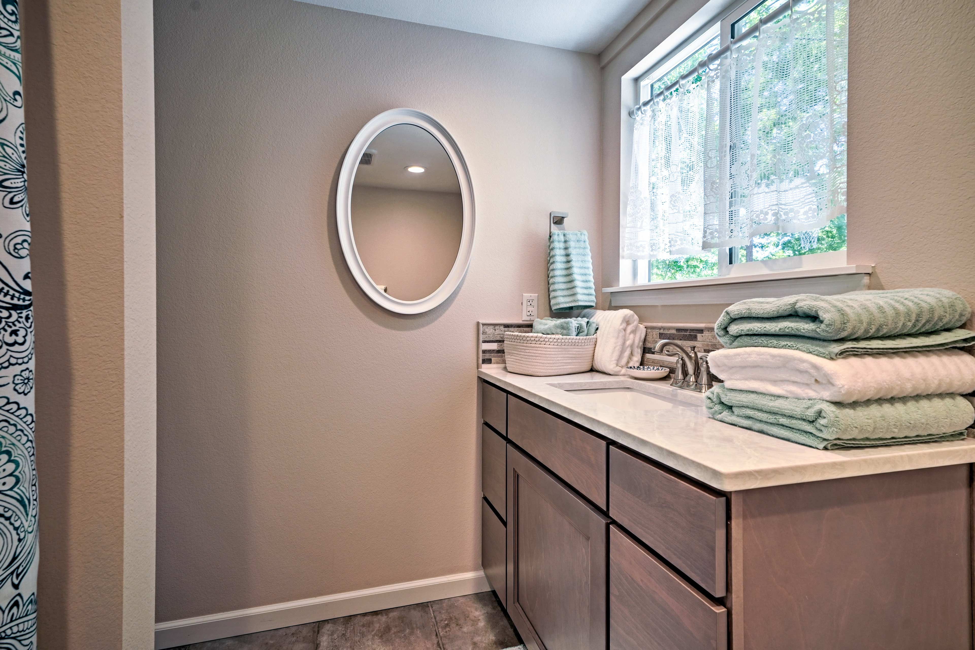 Enjoy the privacy of 2 pristine full bathrooms.