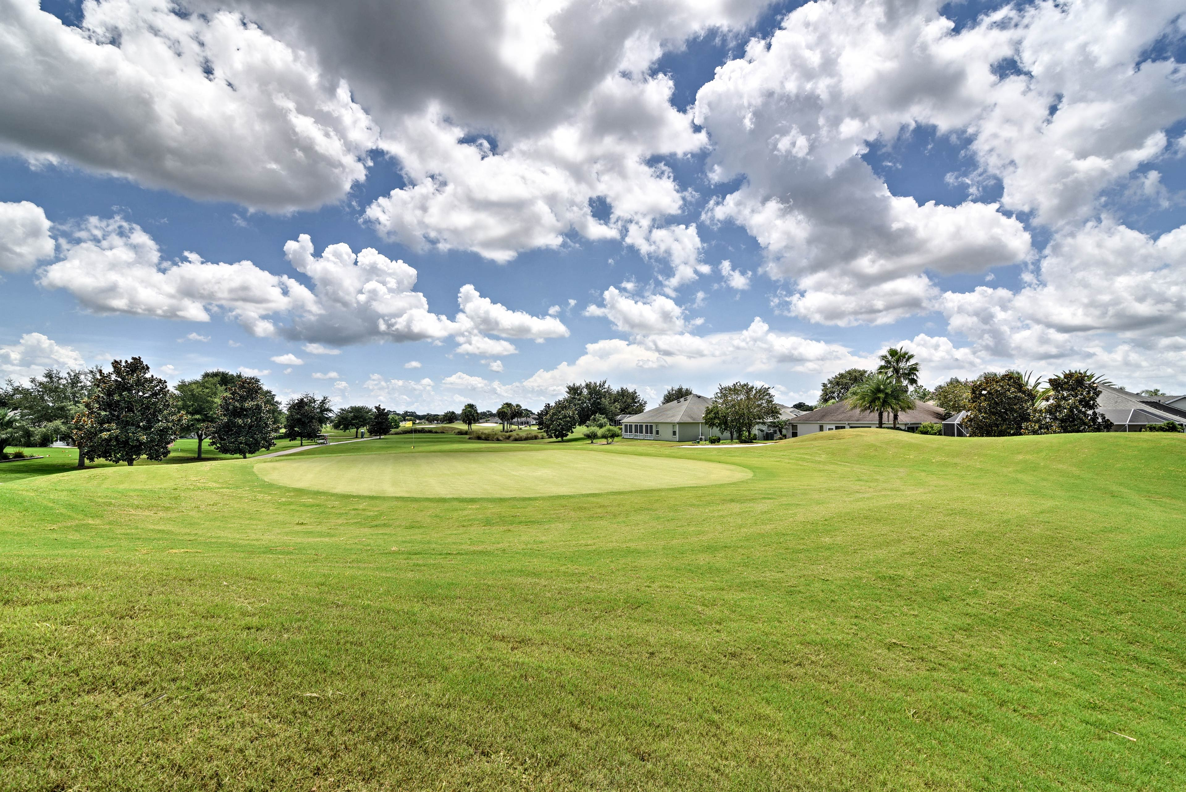 Play a round of golf at the community course!
