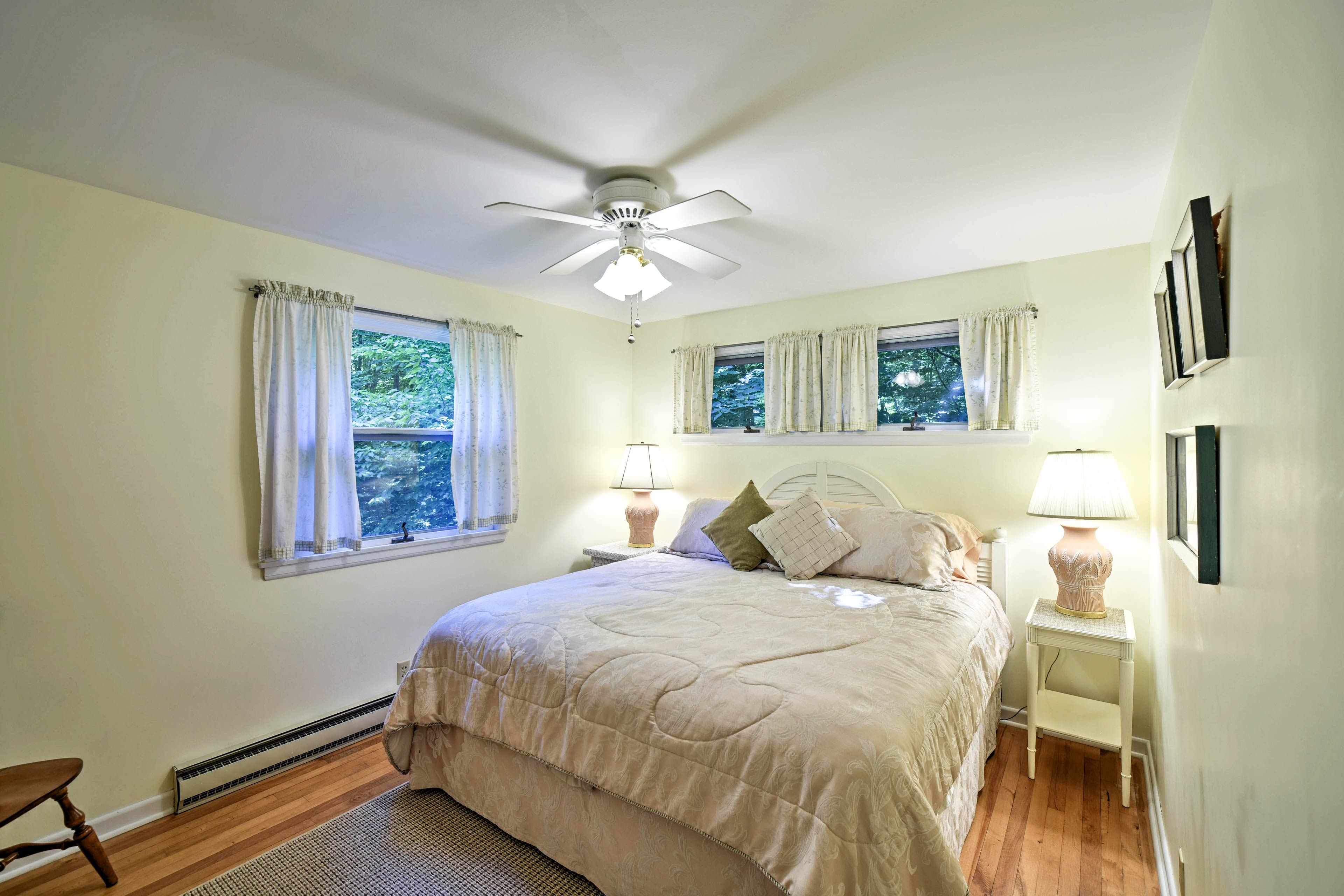 Settle in for the night in one of the 2 bedrooms.