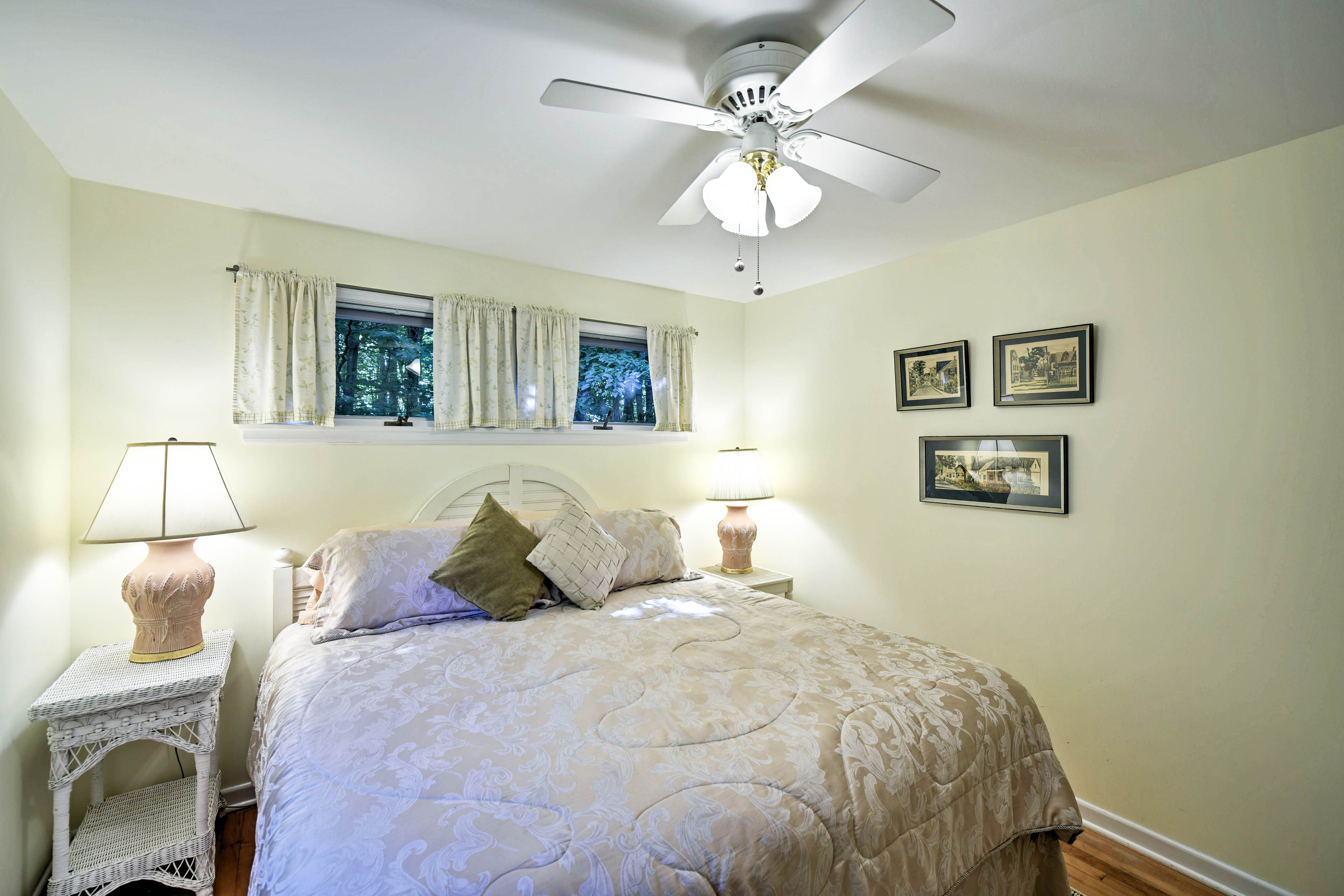 Parents can claim this first bedroom with a king bed.