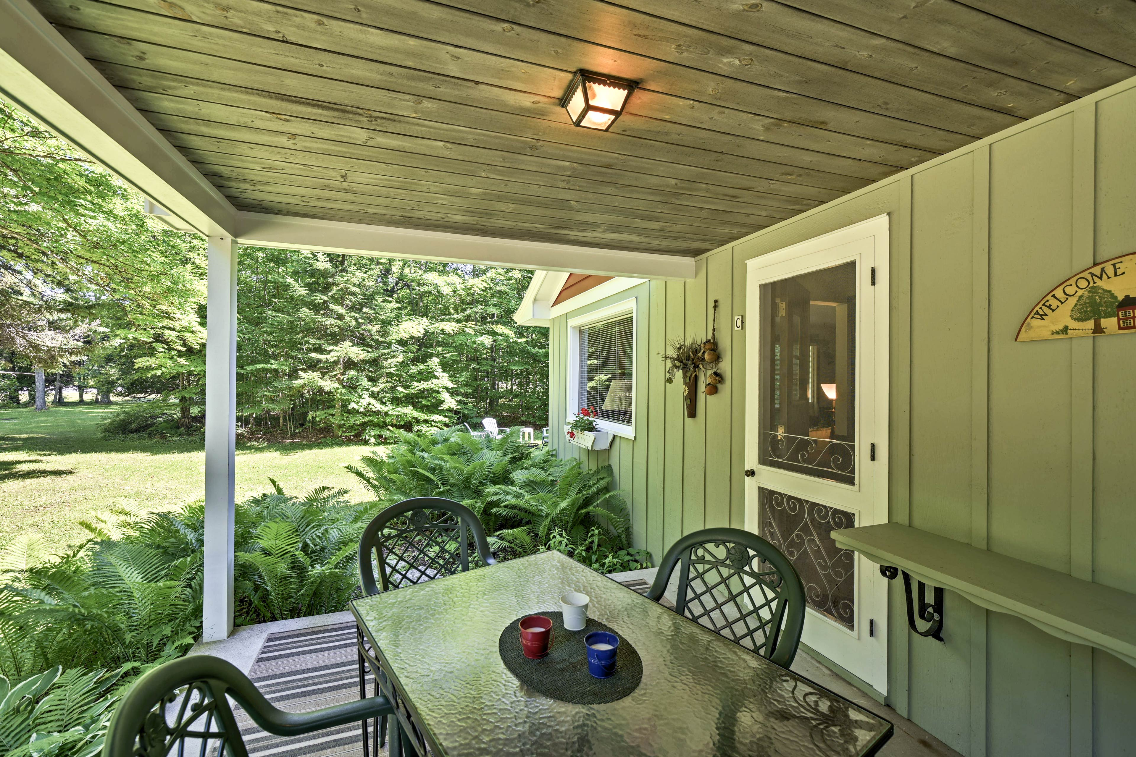 Maybe your favorite spot will be the furnished porch at 'Cherry Cottage.'
