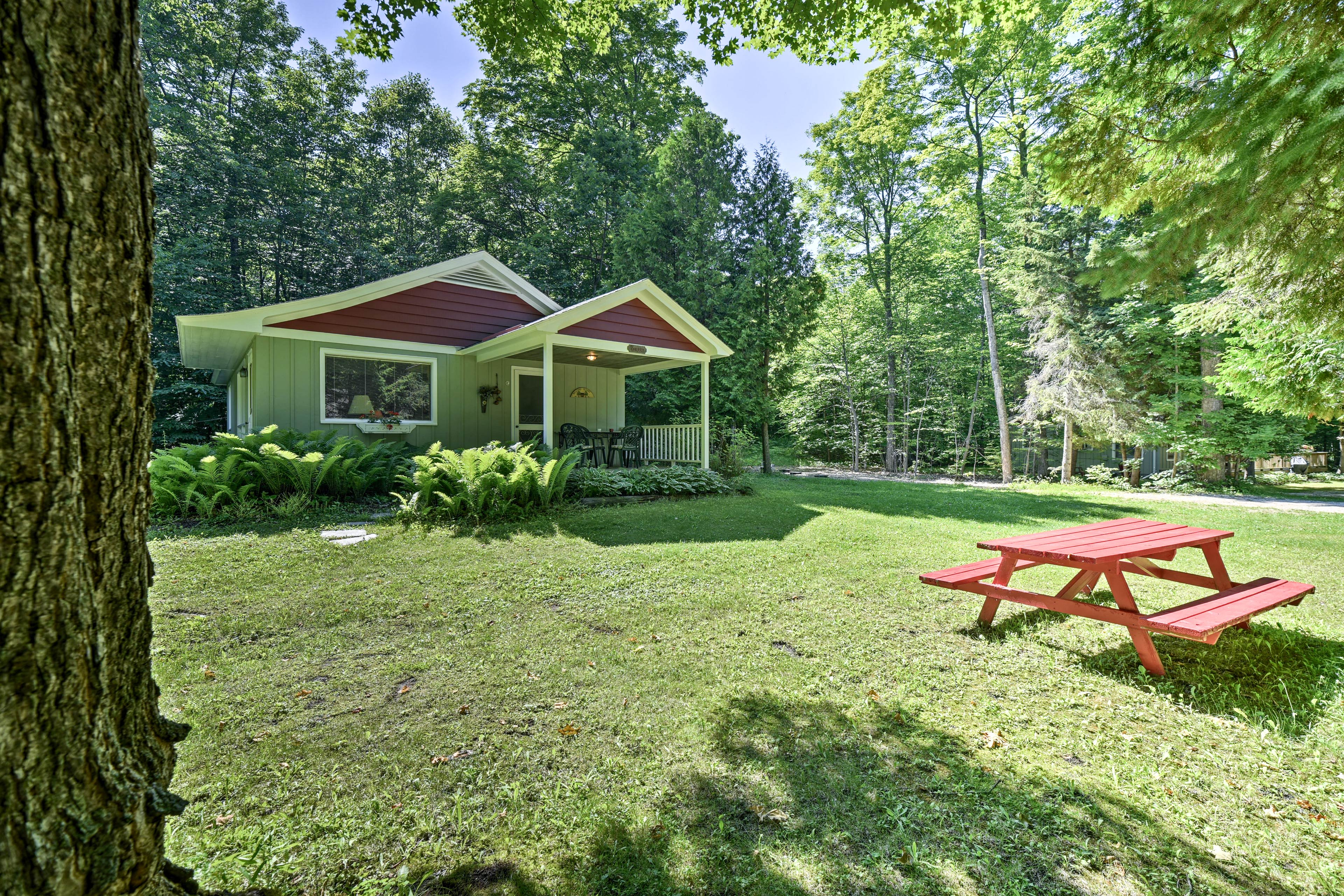 Enjoy a little slice of Wisconsin paradise at this wooded property.