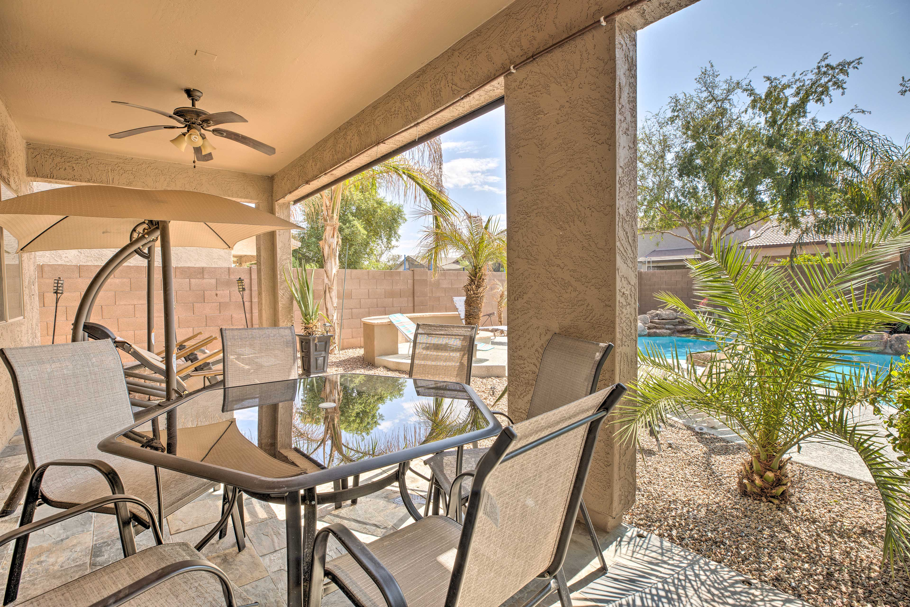 Spend countless hours on the immaculate back patio!