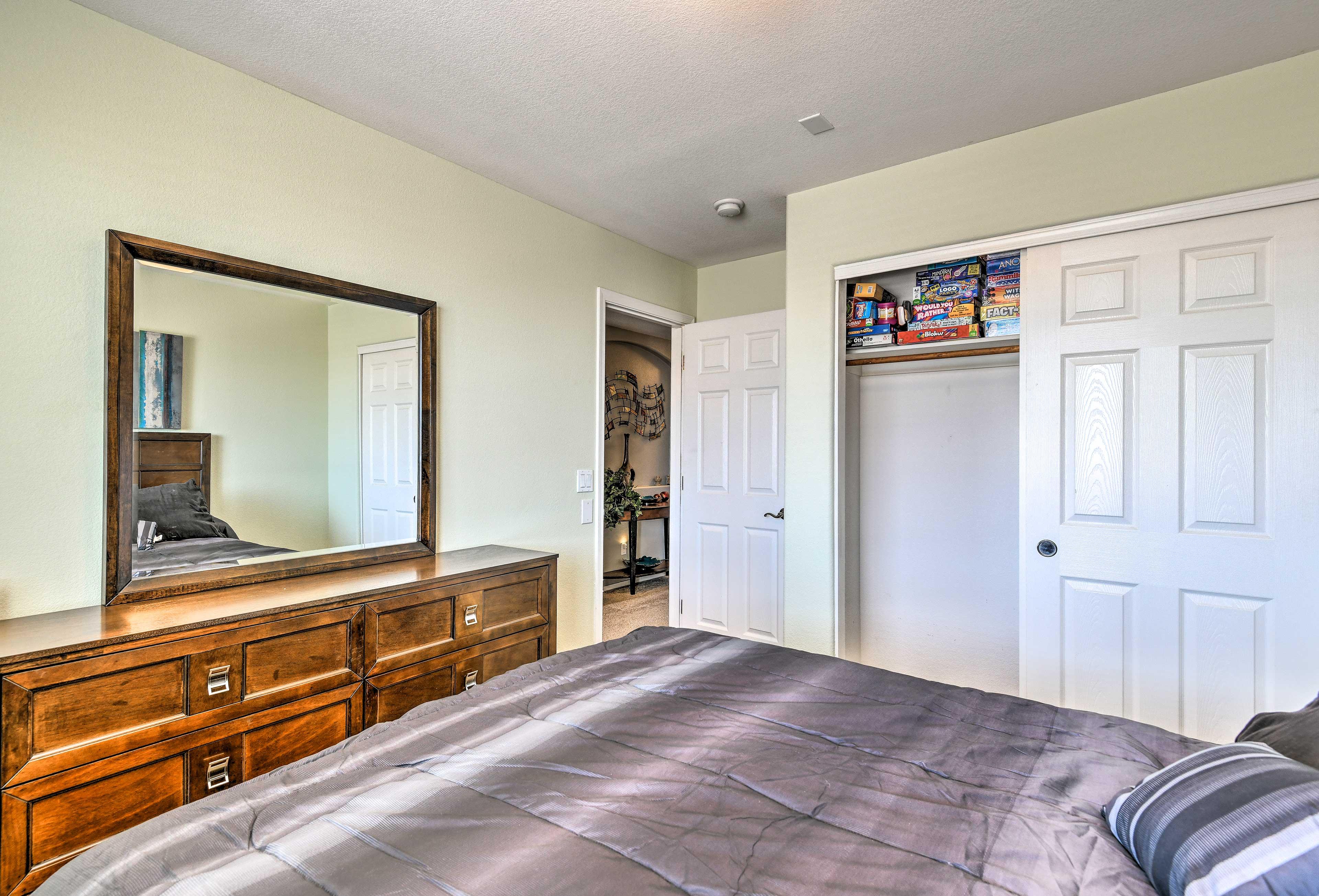 Plenty of closet space provided!