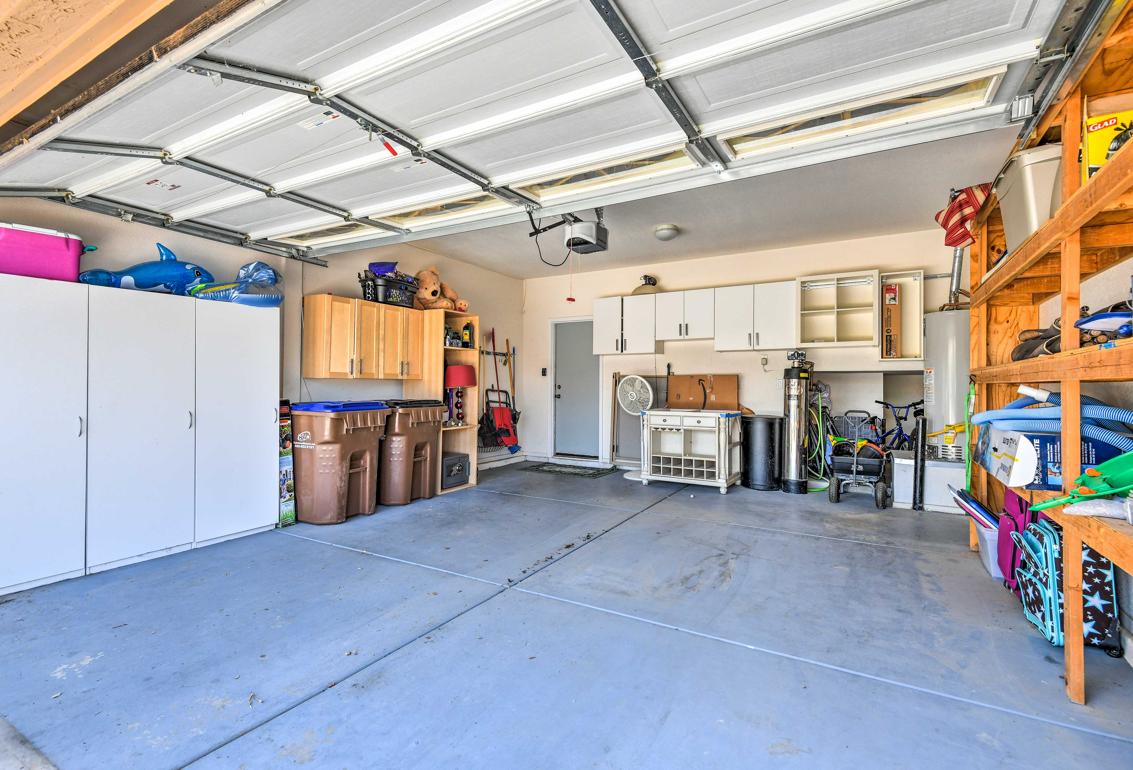 Make yourself home to plenty of parking and storage space in the garage.