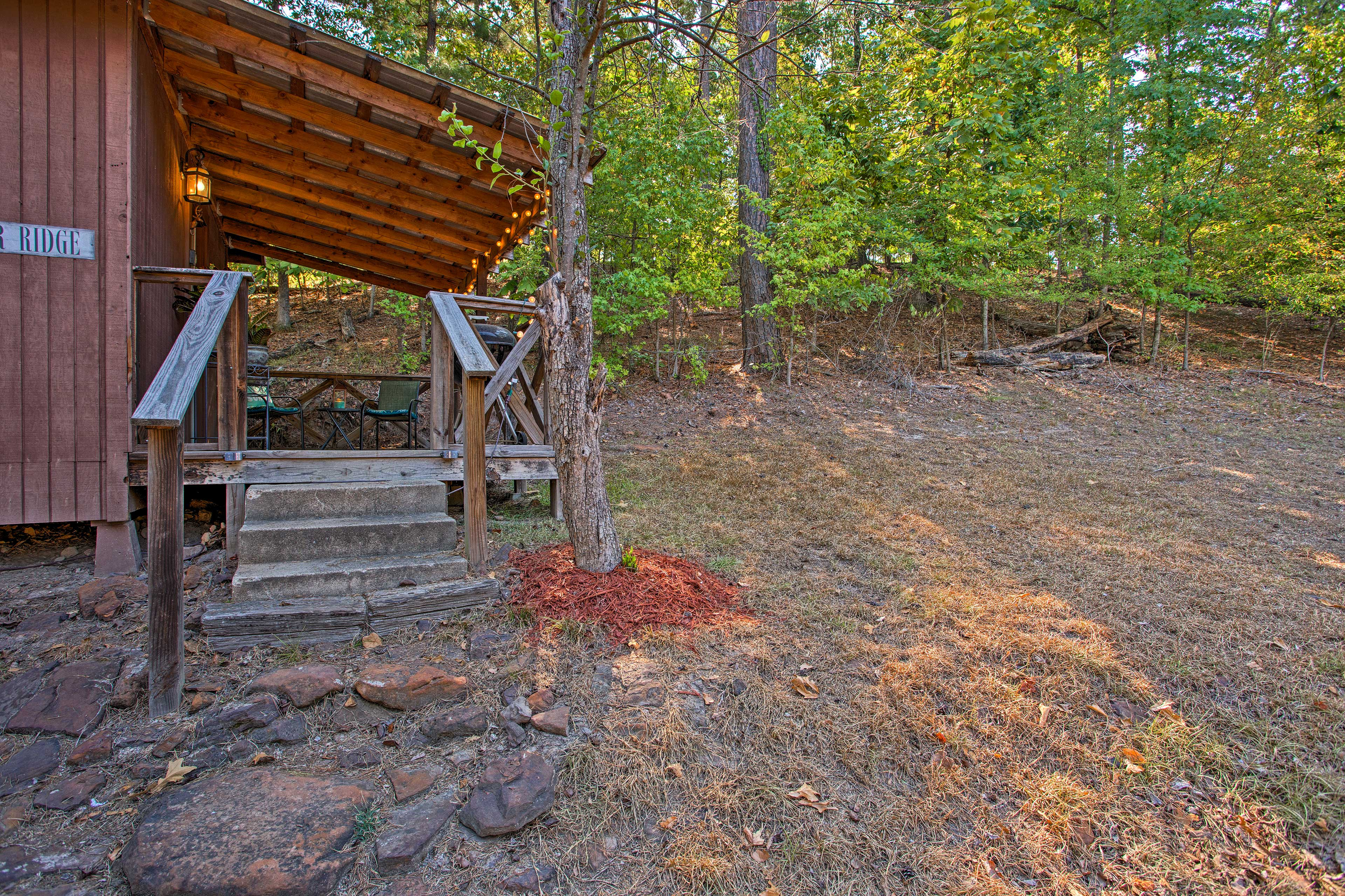 Your idyllic getaway at Lake O' the Pines is just steps away...