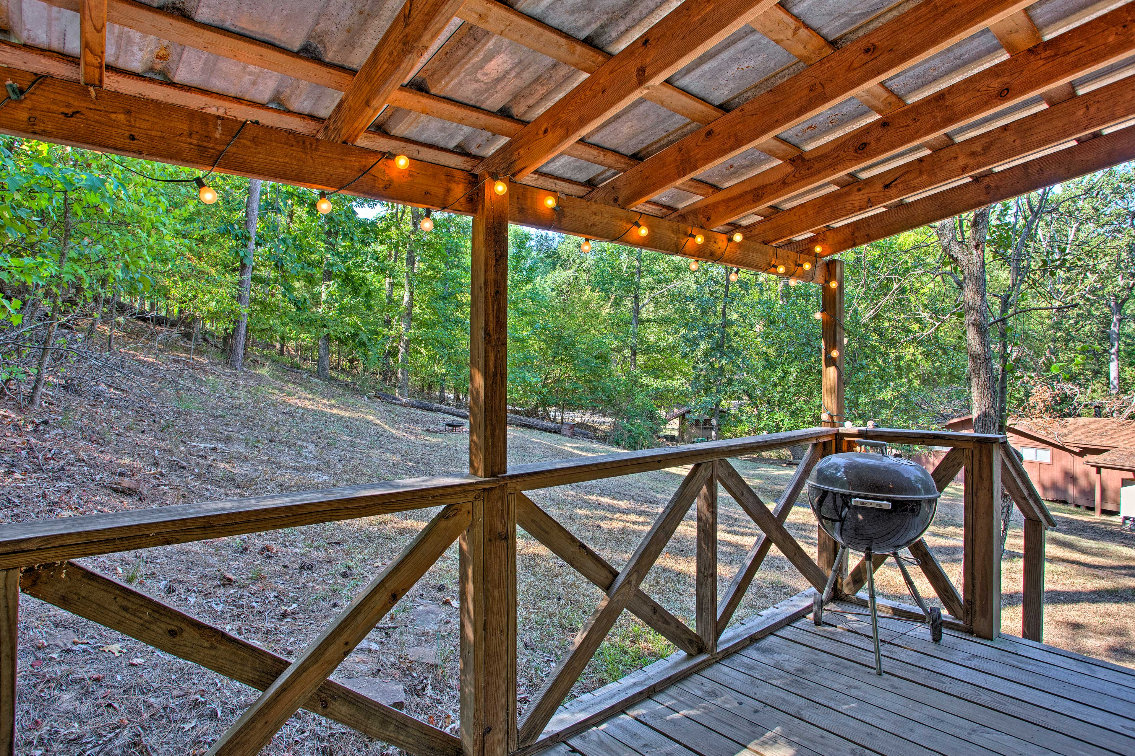 The deck is the perfect spot to watch for wildlife.