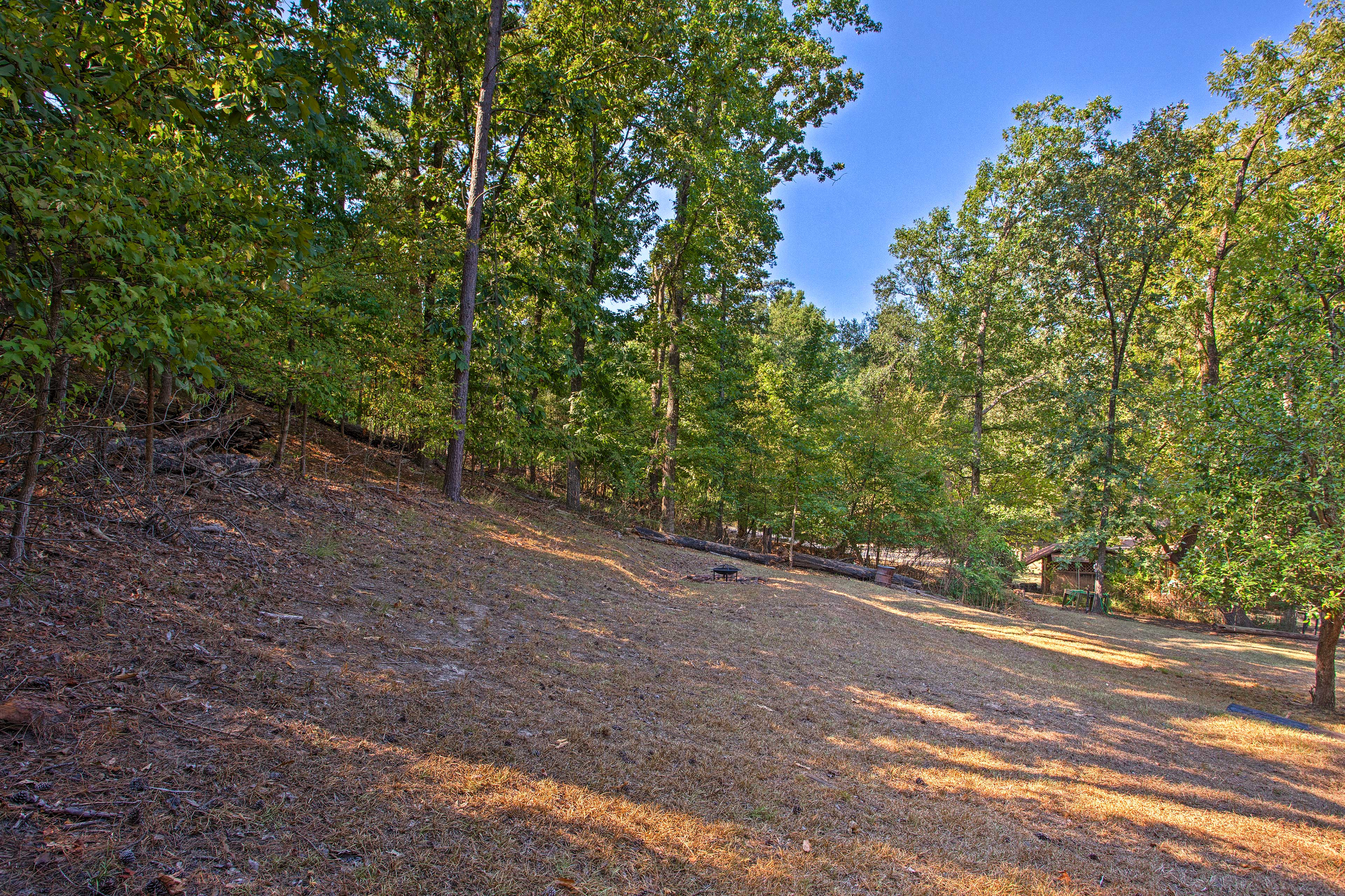 Revel in the beauty of nature while surrounded by towering trees & open space.