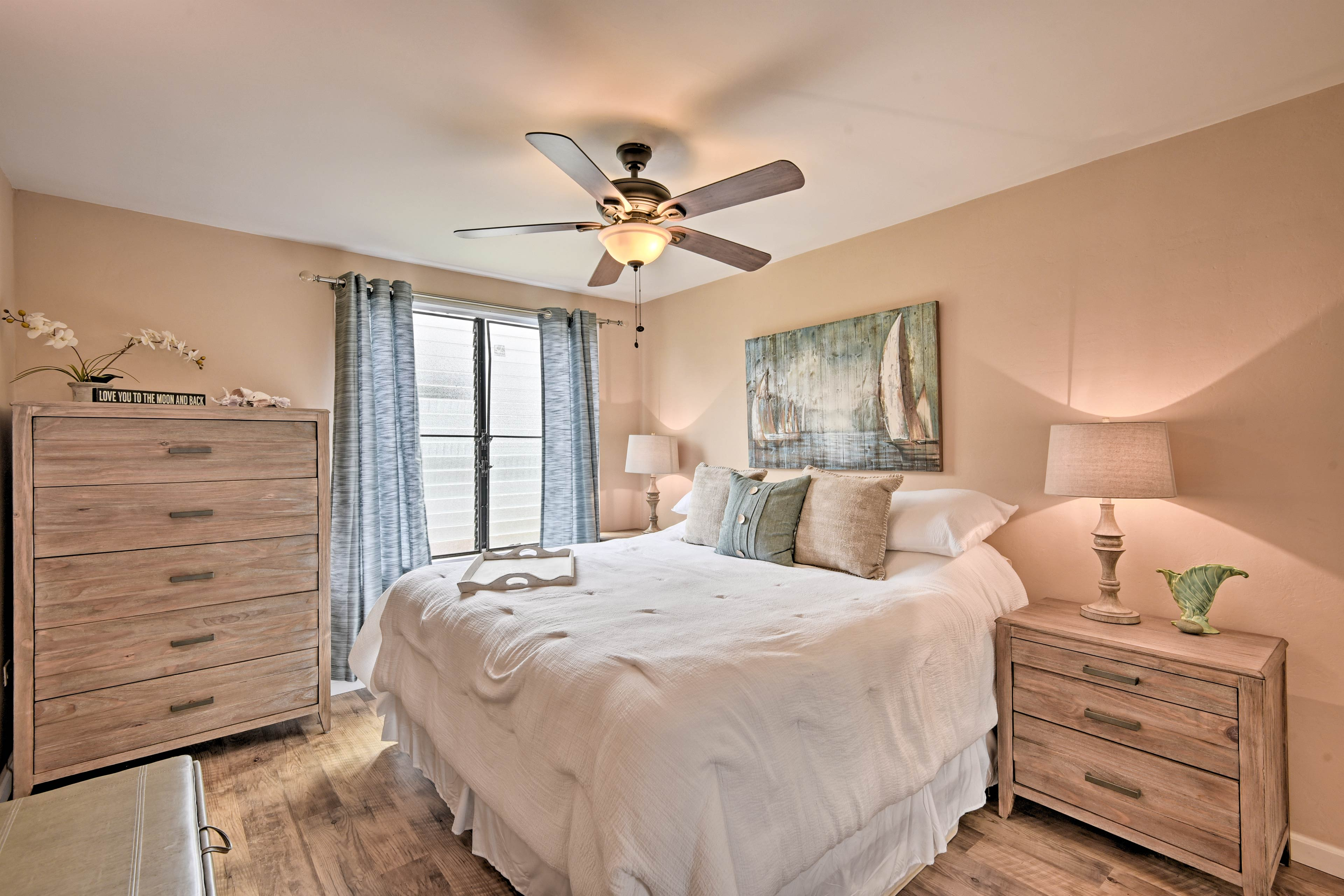 Take solace in the cozy bedroom for privacy.