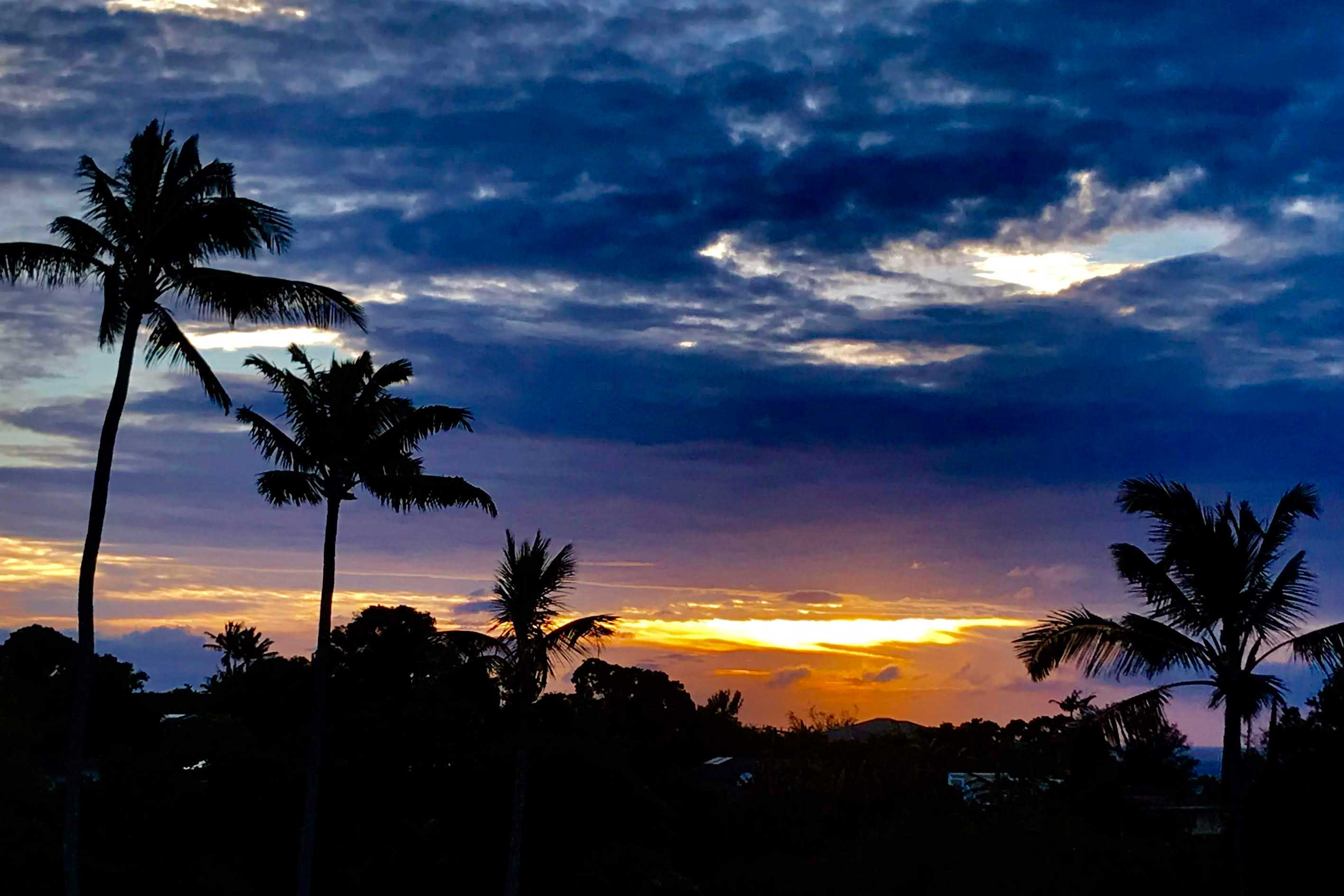 Each day in paradise ends with a a colorful sunset!