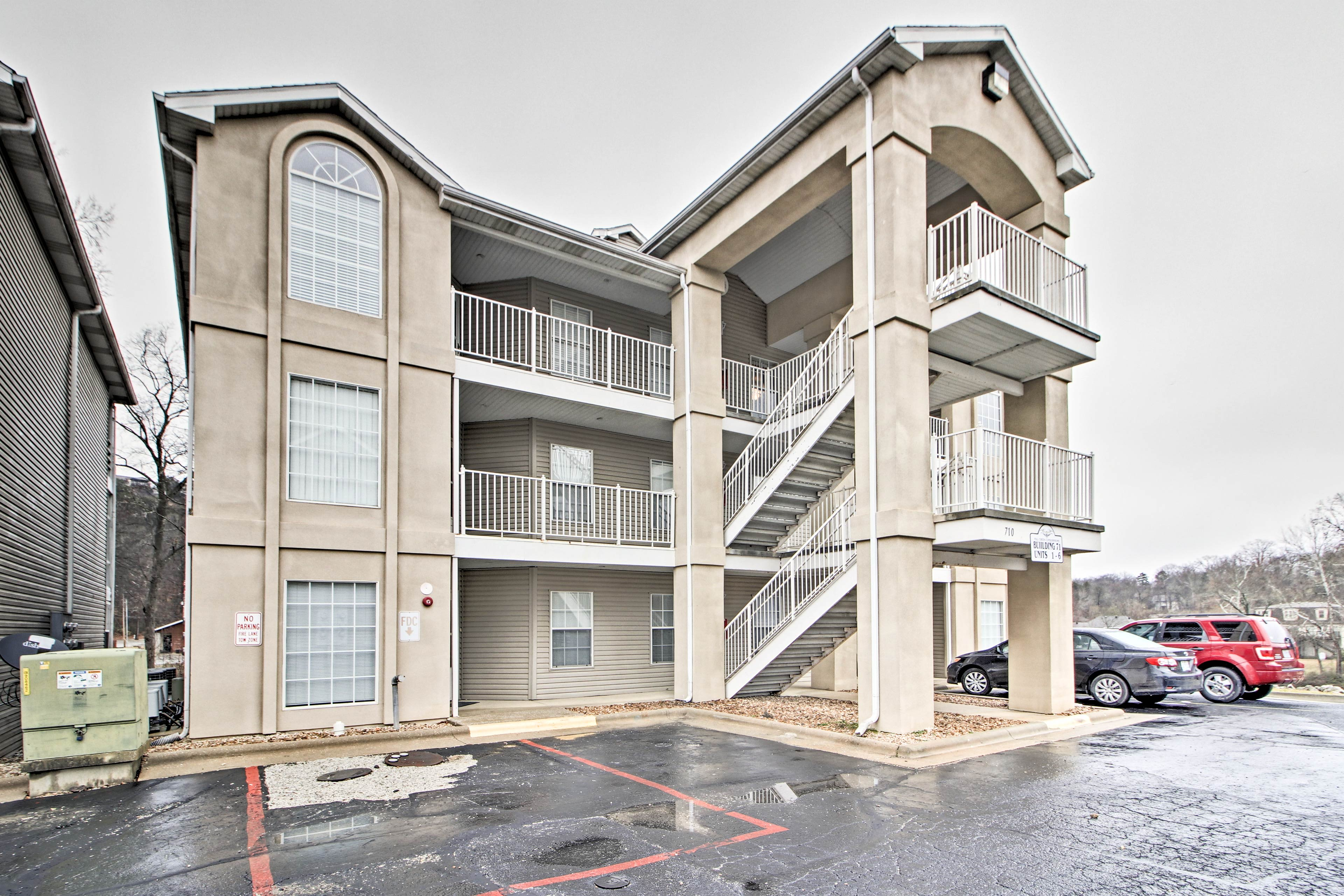 The vacation rental is a third-floor condo in Diamond Resort.