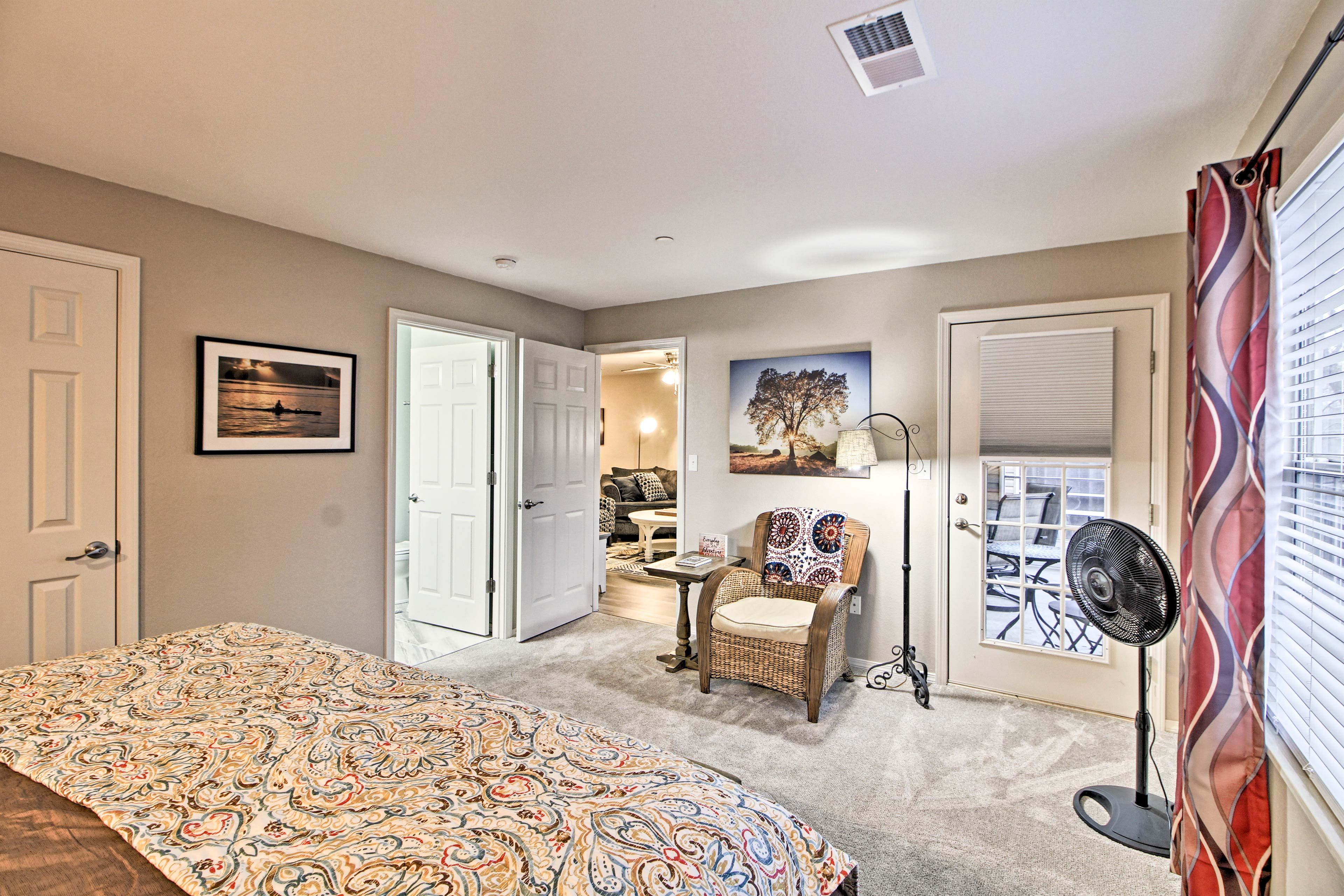 The master suite features private access to the porch!