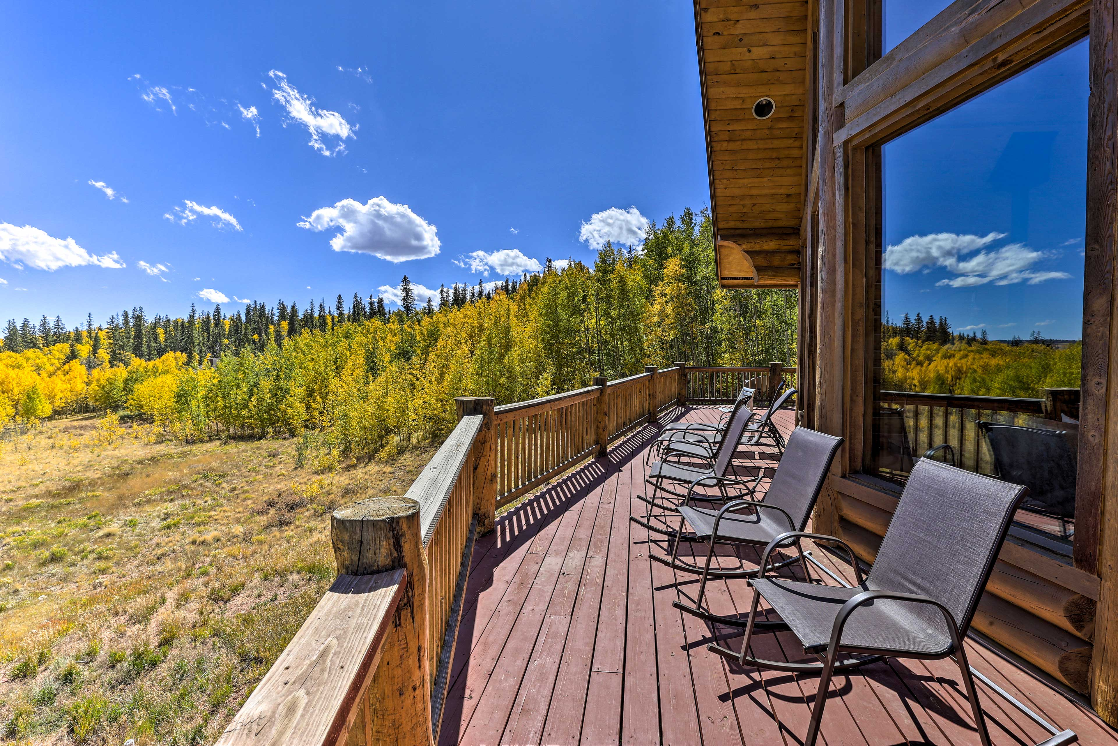 Lounge on the deck and enjoy the fantastic views.