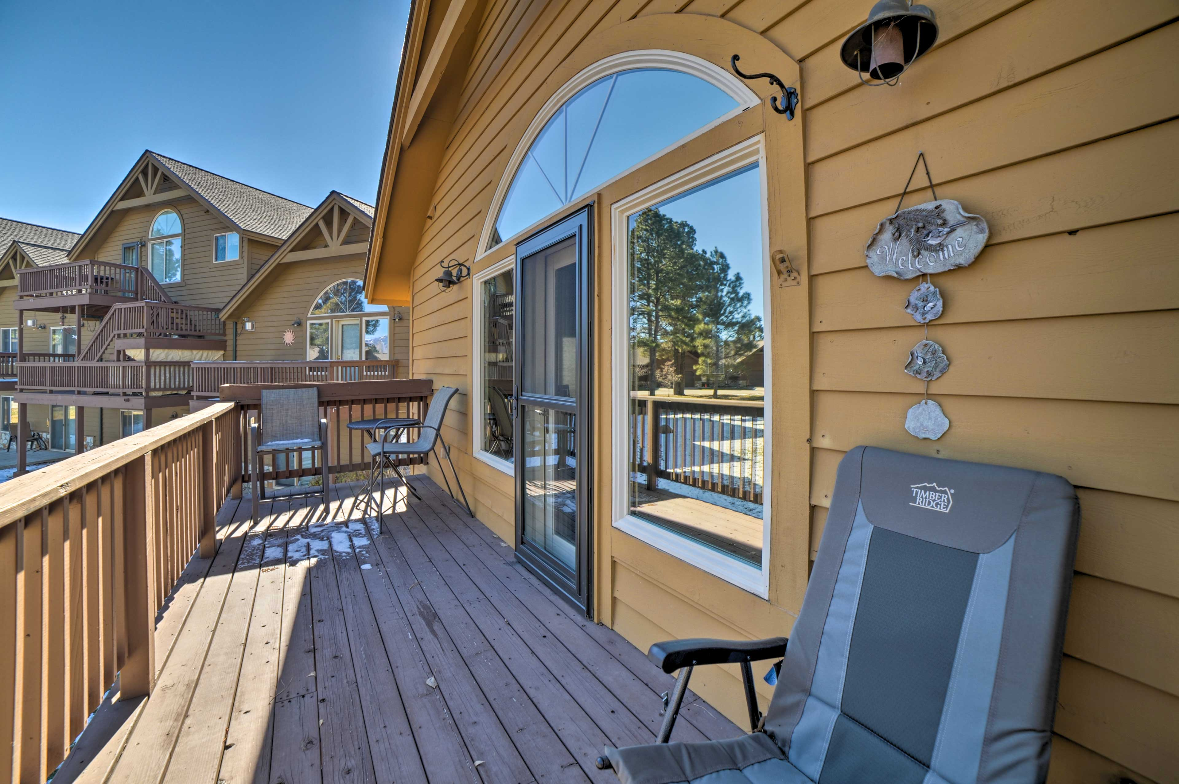 This vacation rental condo in Pagosa Springs is part of Whispering Pines.