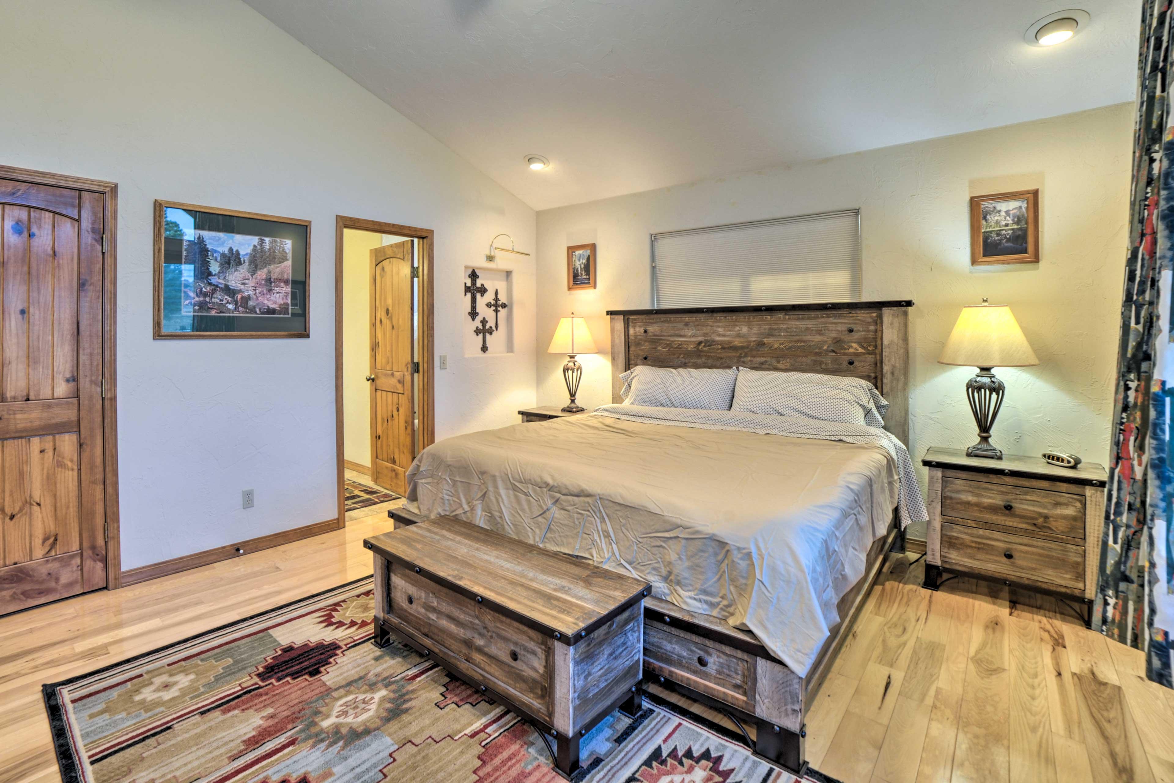 The room includes an en-suite bathroom.