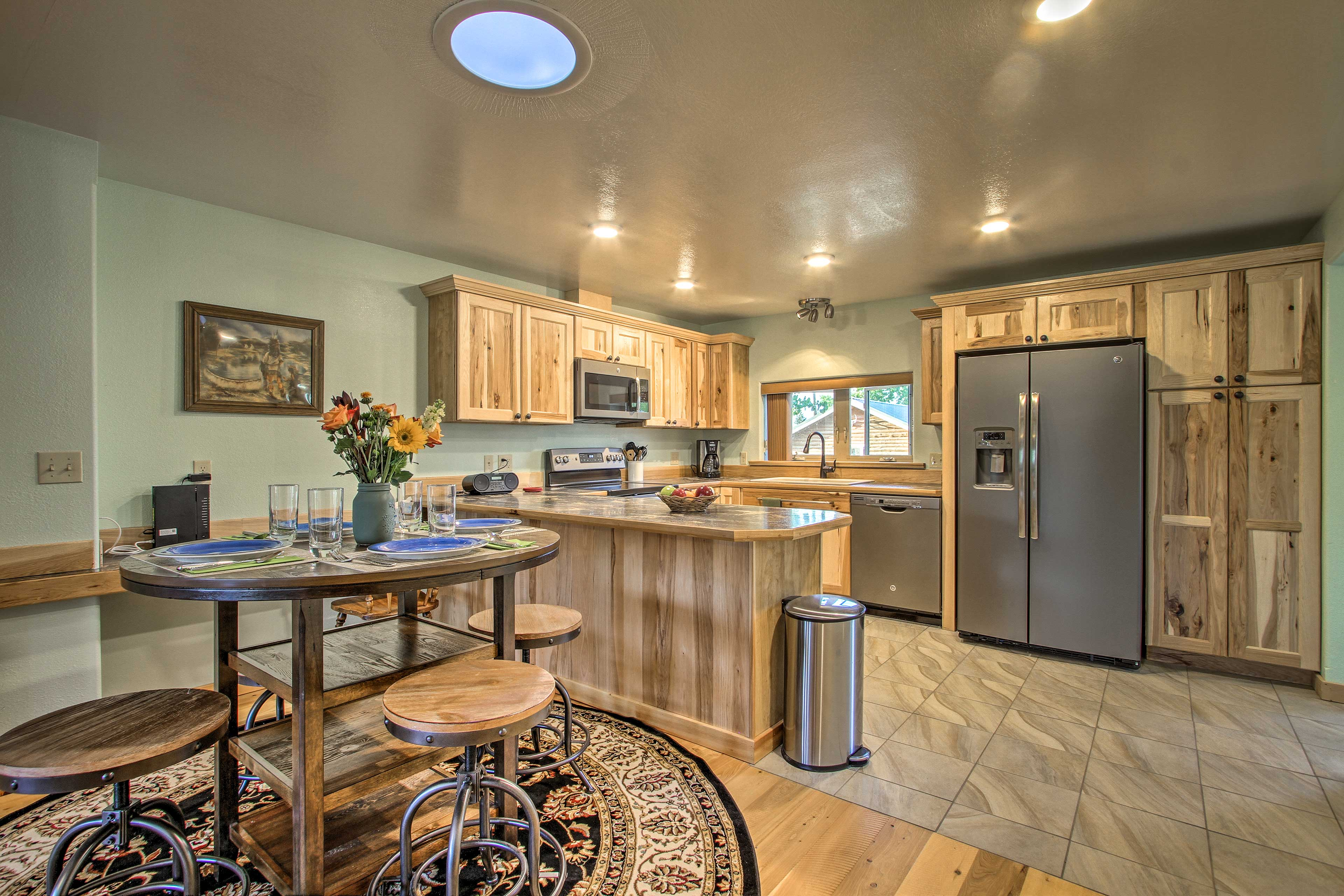 The cabin has been completely updated with modern appliances.