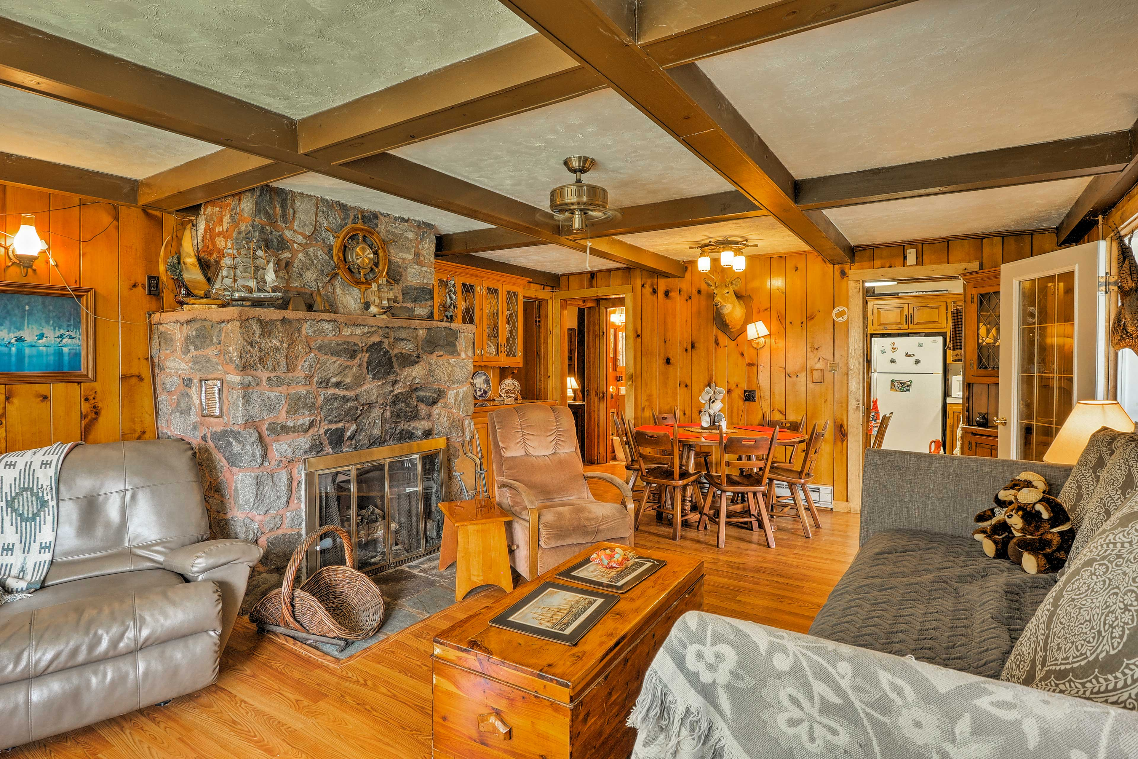 Rustic decor and comfortable furnishings invite you to make yourself at home.