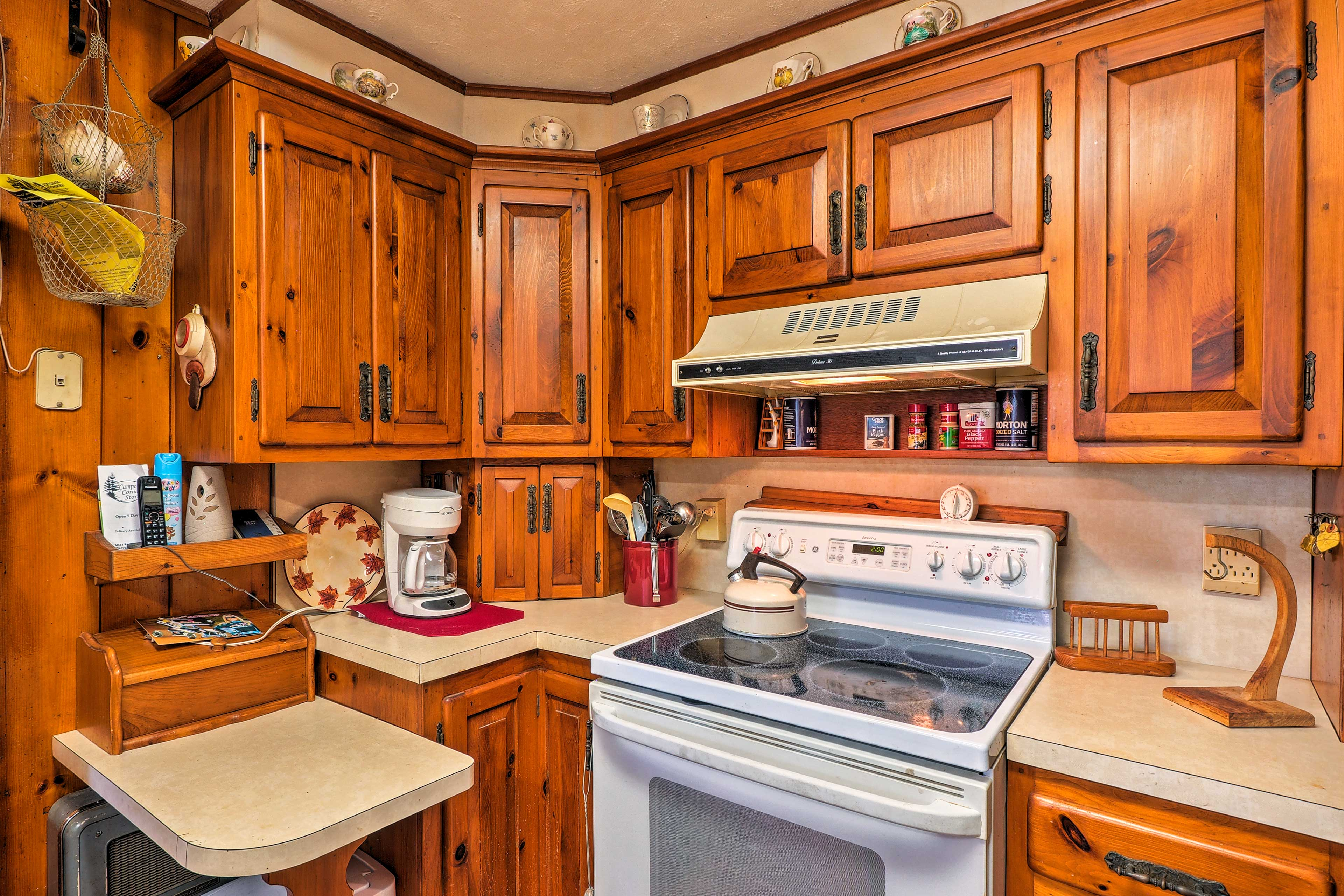 The kitchen is fully equipped so you can cook with ease while away.