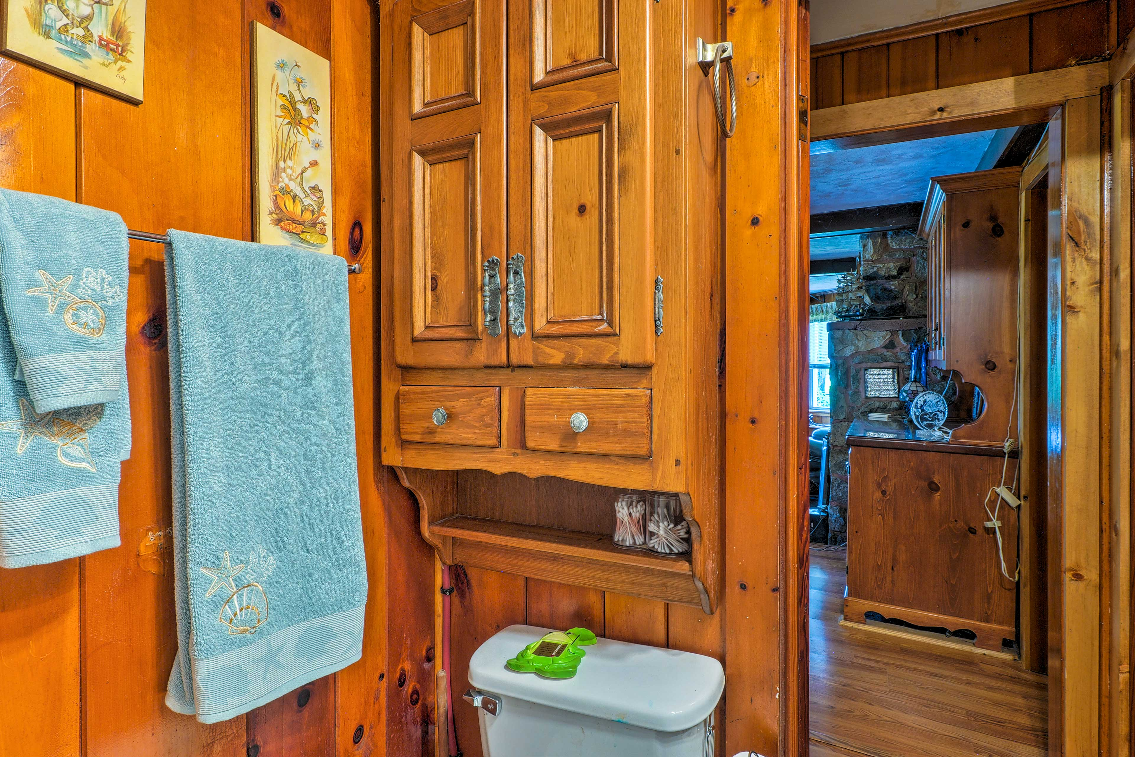 Unpack your toiletries for easy access during your stay.