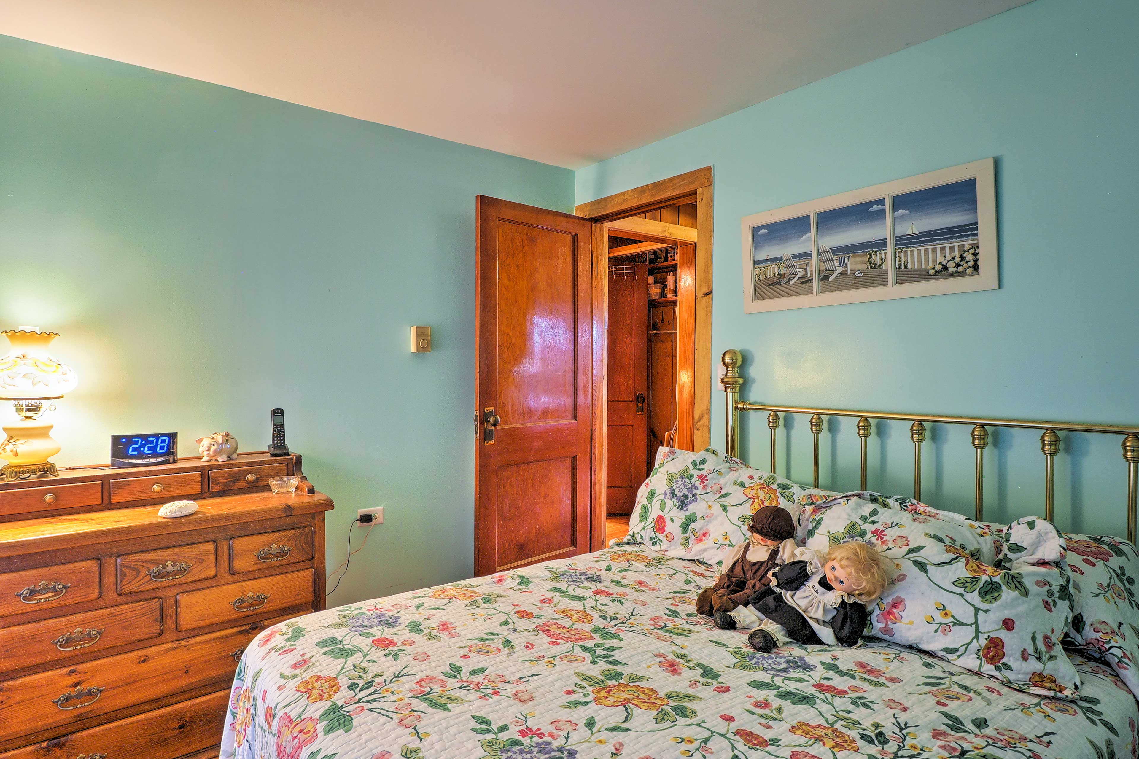 The second bedroom has a full bed that can sleep up to 2 guests.