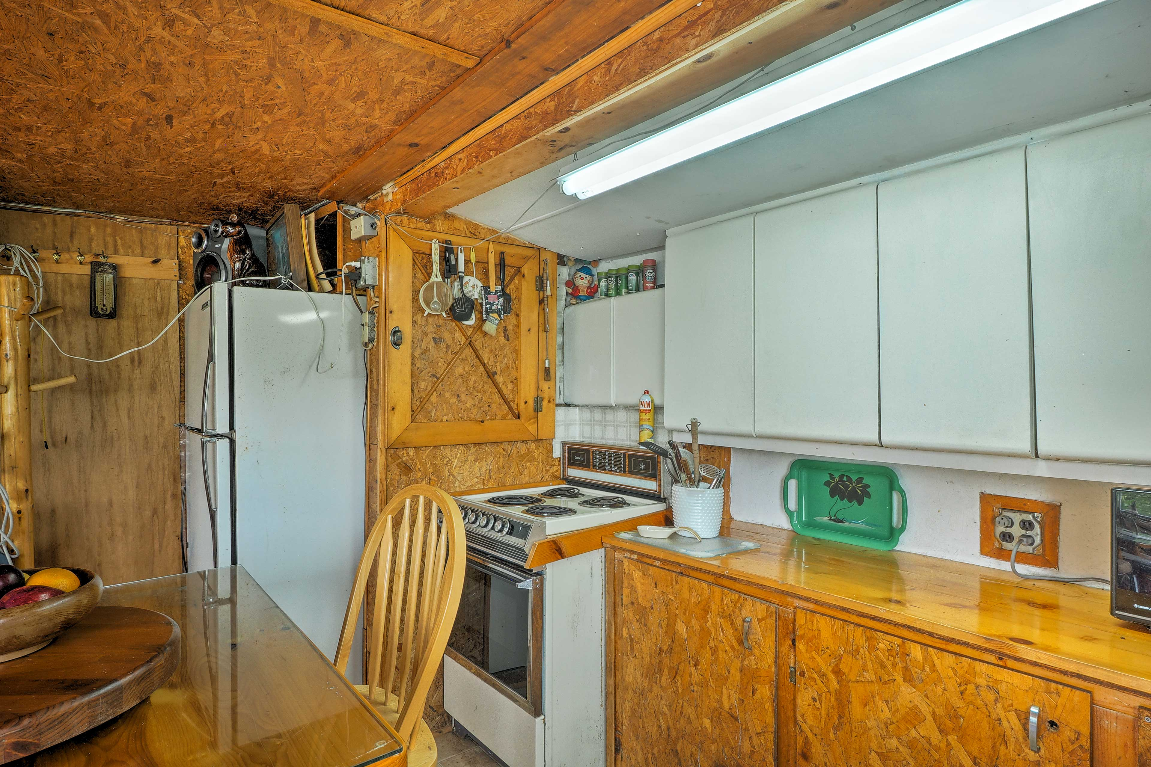 There's even a well-equipped kitchen!