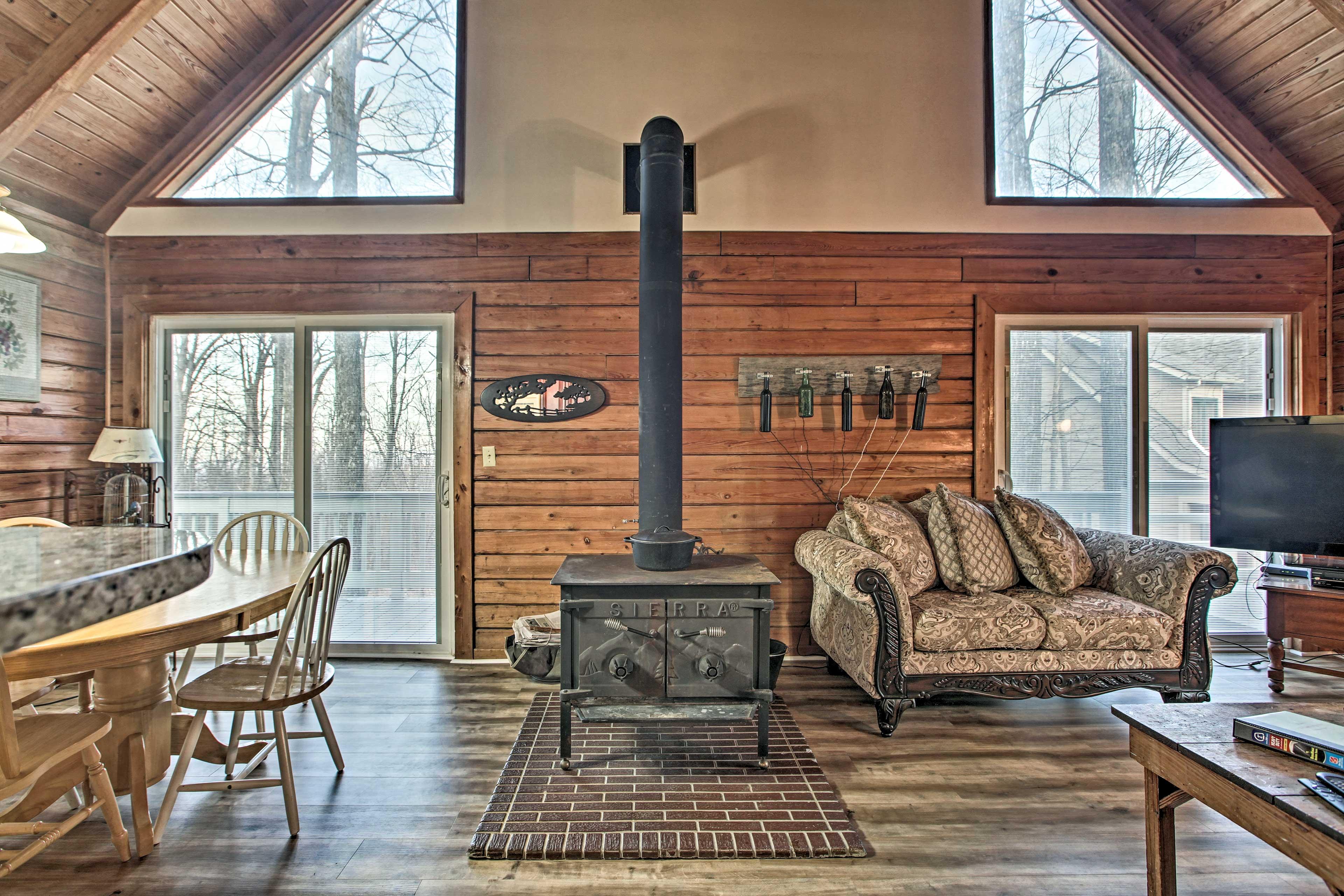 Living Room   Wood-Burning Stove