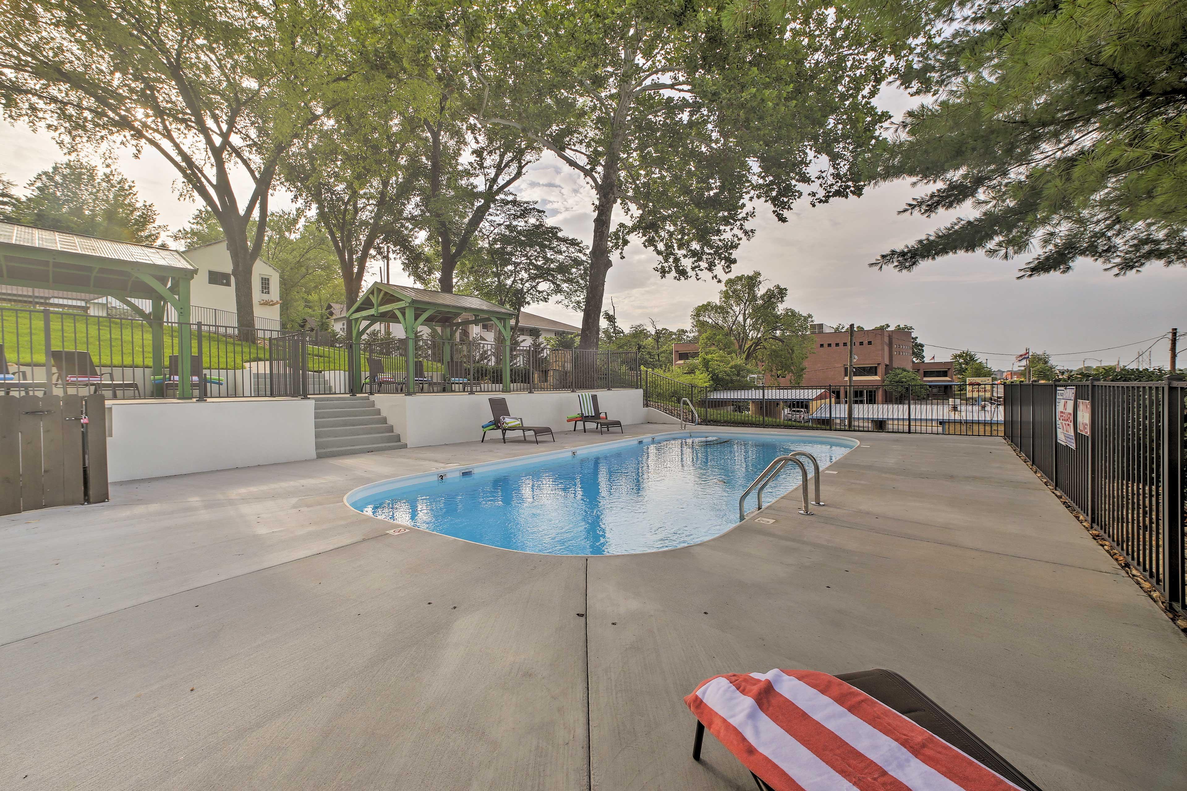 Make a splash in the community pool.