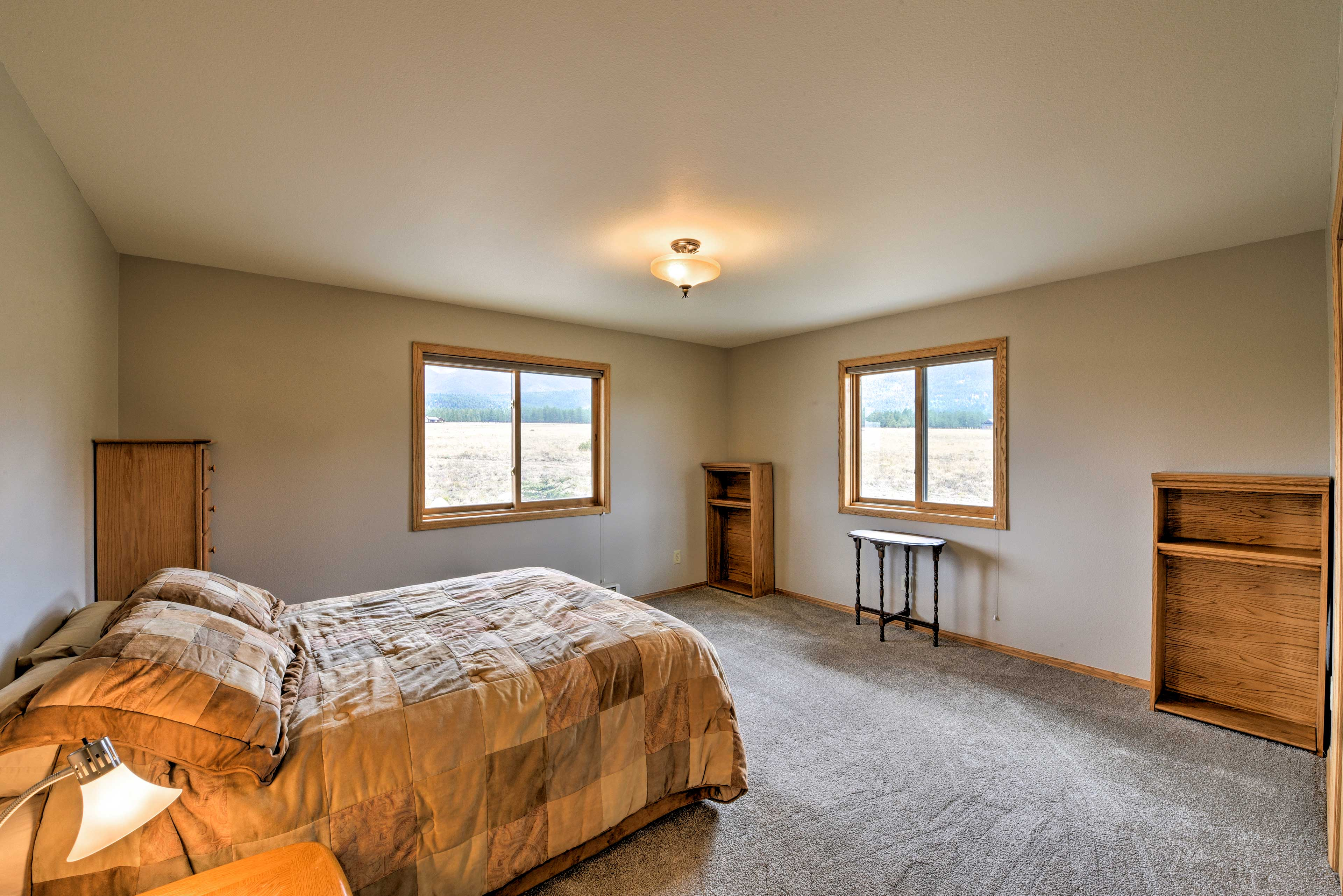 Two can share this second bedroom.