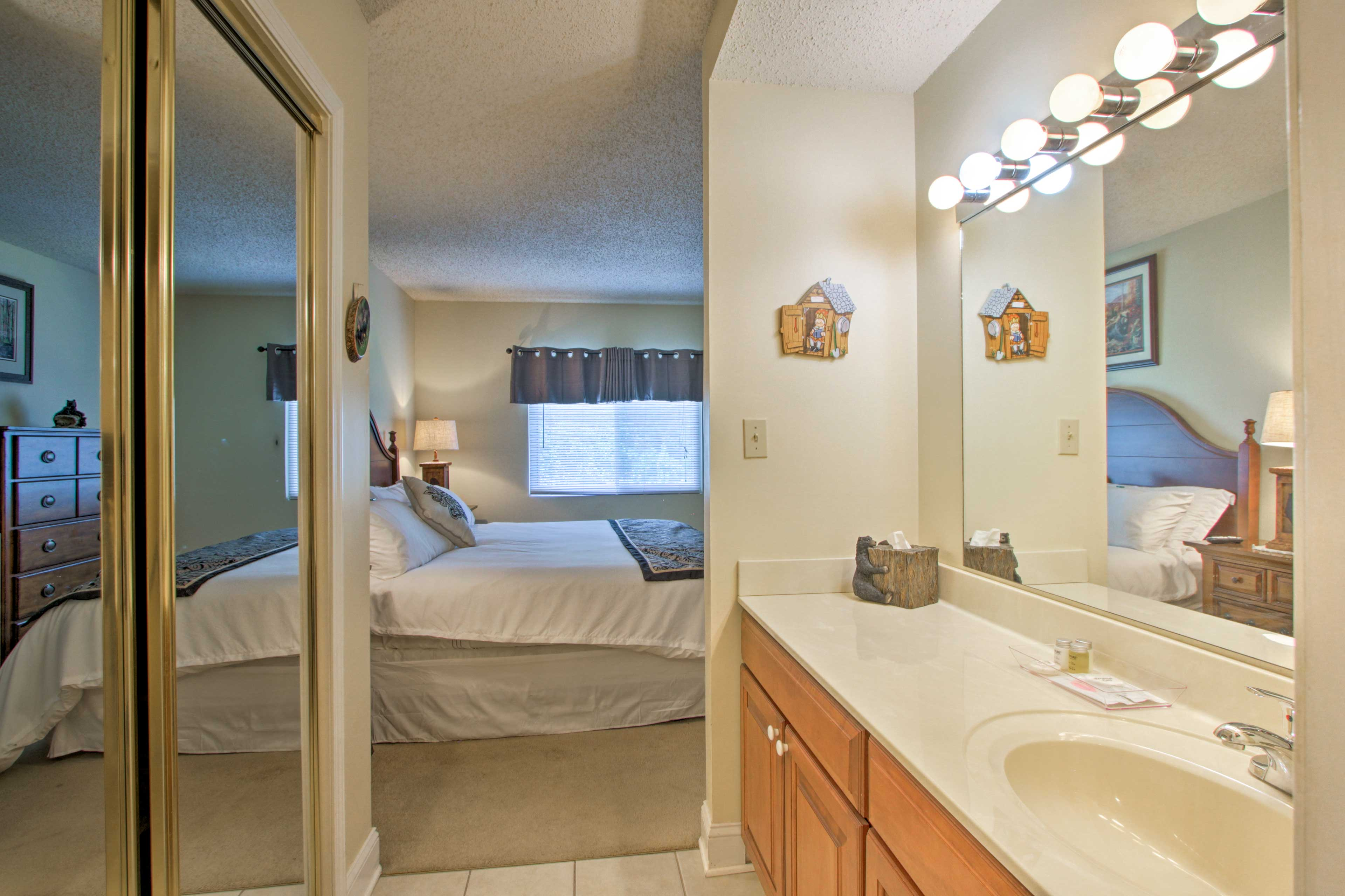 Check out your outfit for the day in these full-length mirror closet doors!