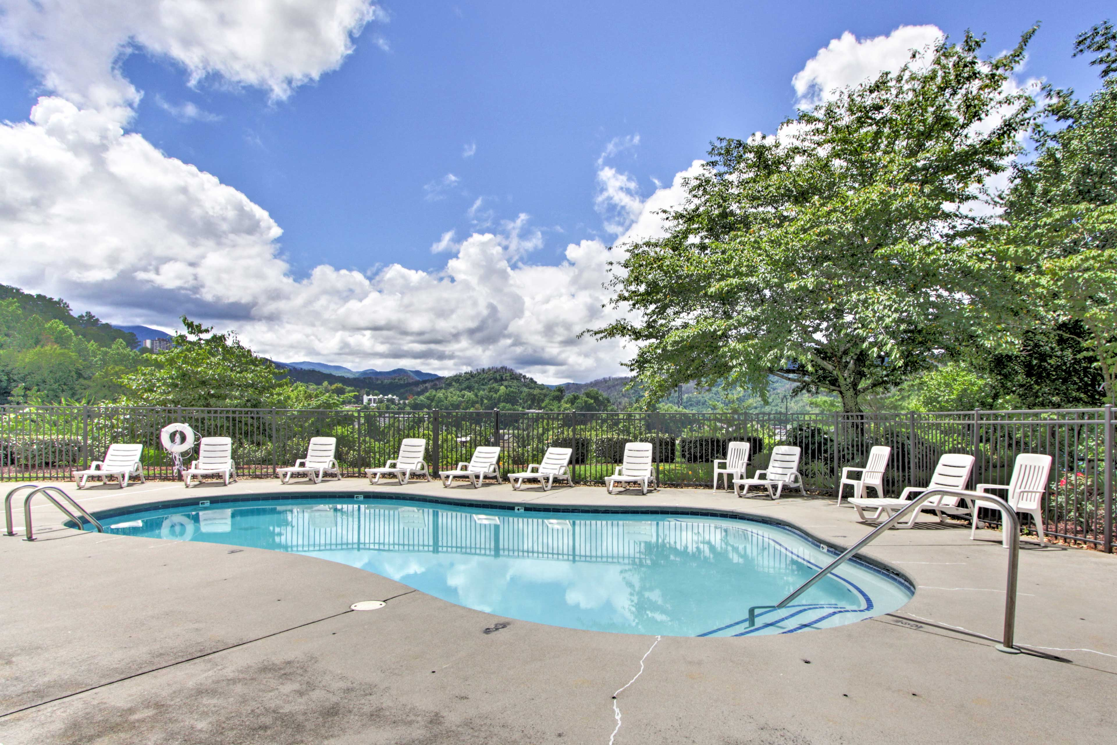 Stake out a chair to lounge by the pool & soak up some rays.