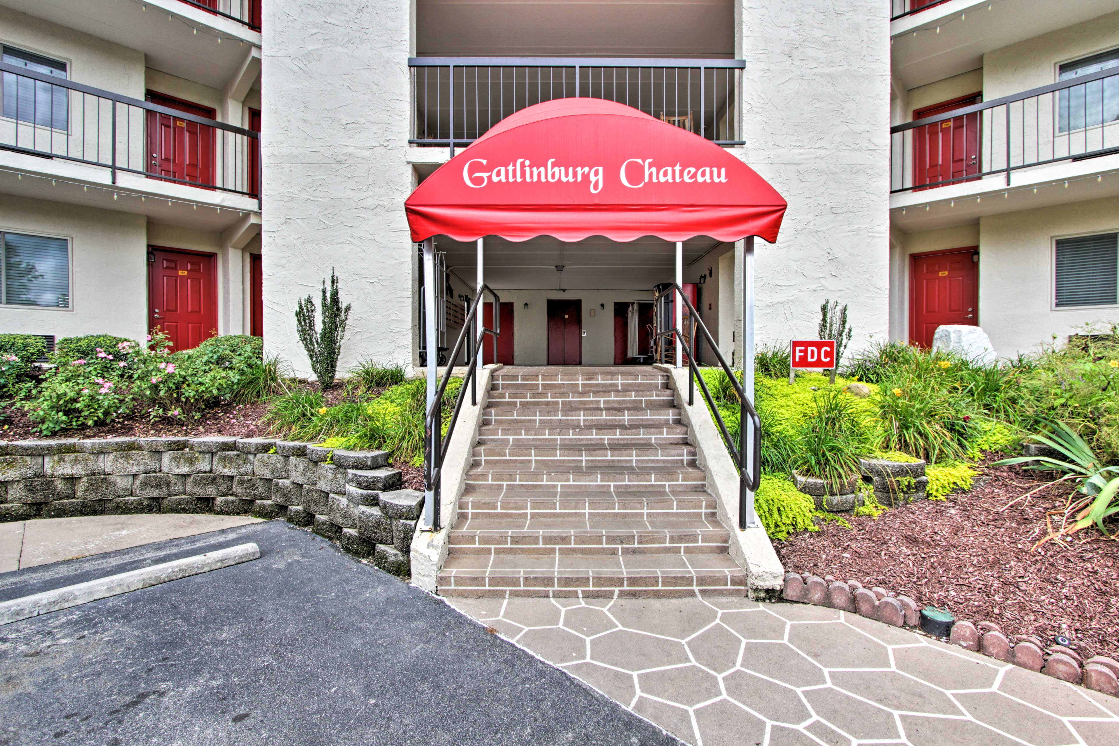 This 2-bed, 2-bath condo in the Gatlinburg Chateau is perfect for your vacation!