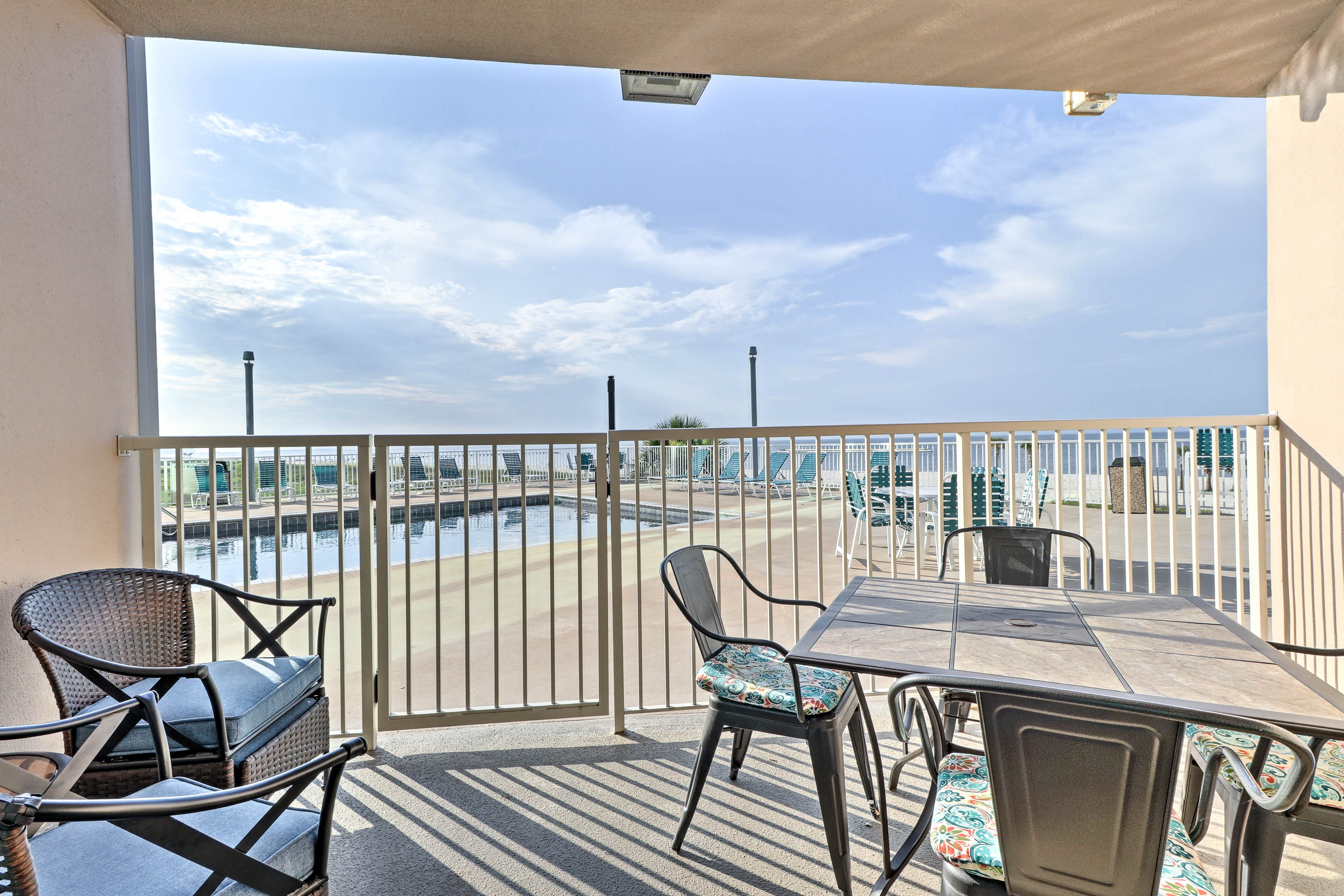 Start and end your day on your private patio, with pool and ocean views!