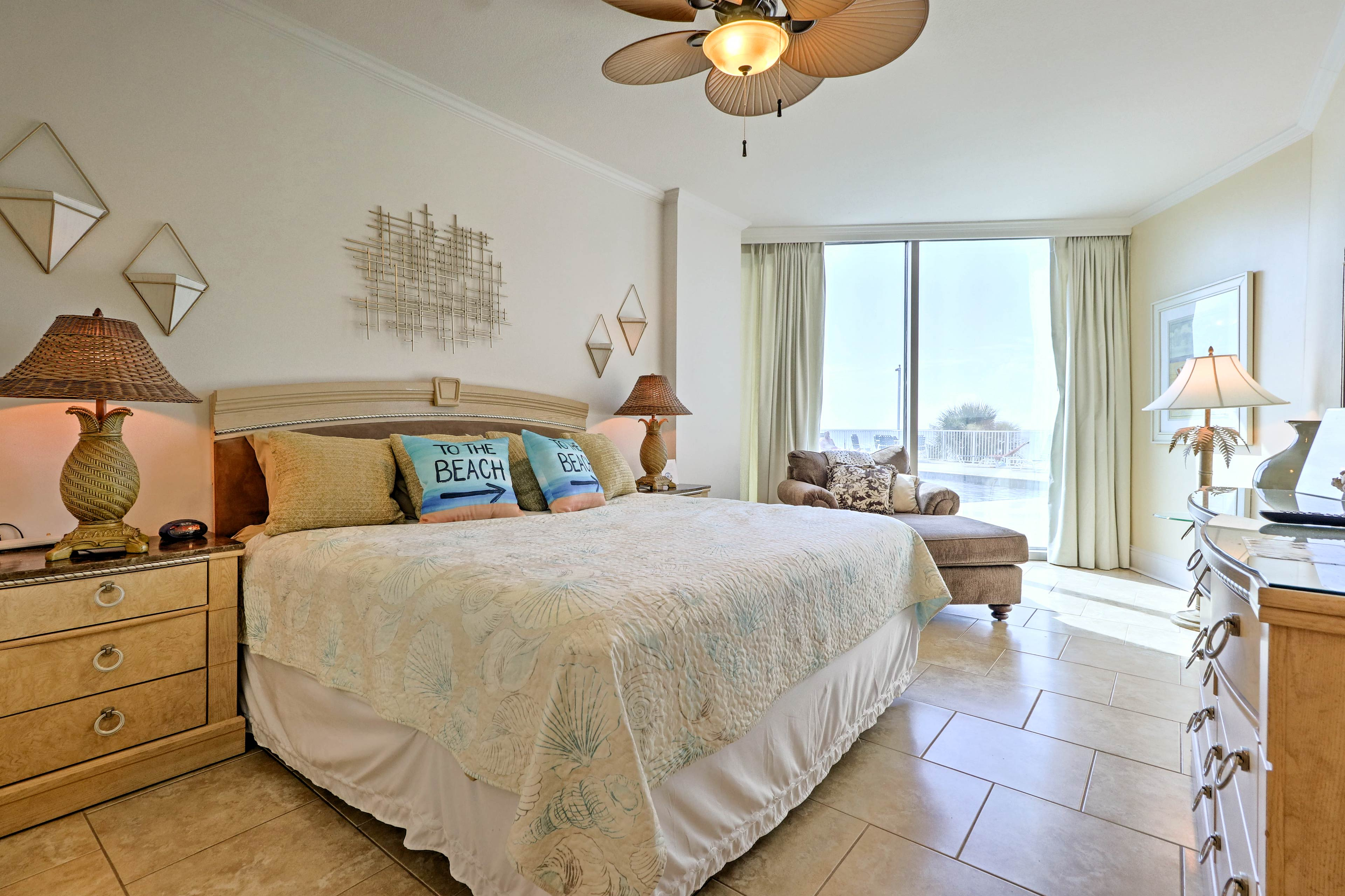 Retreat to the master bedroom for rest and relaxation at the end of the day.
