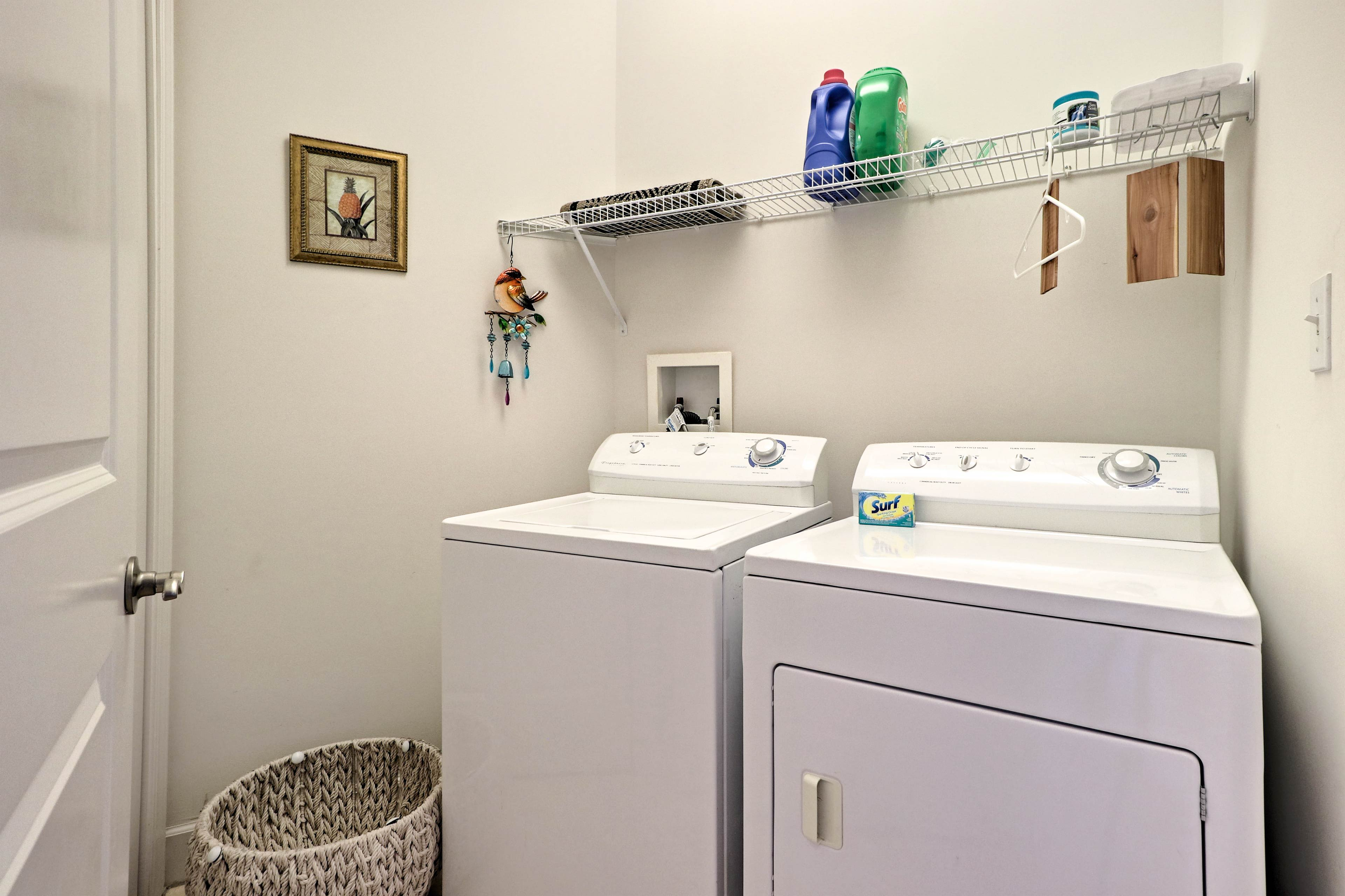 Keep those dirty duds clean with a spin through the in-unit laundry machines.