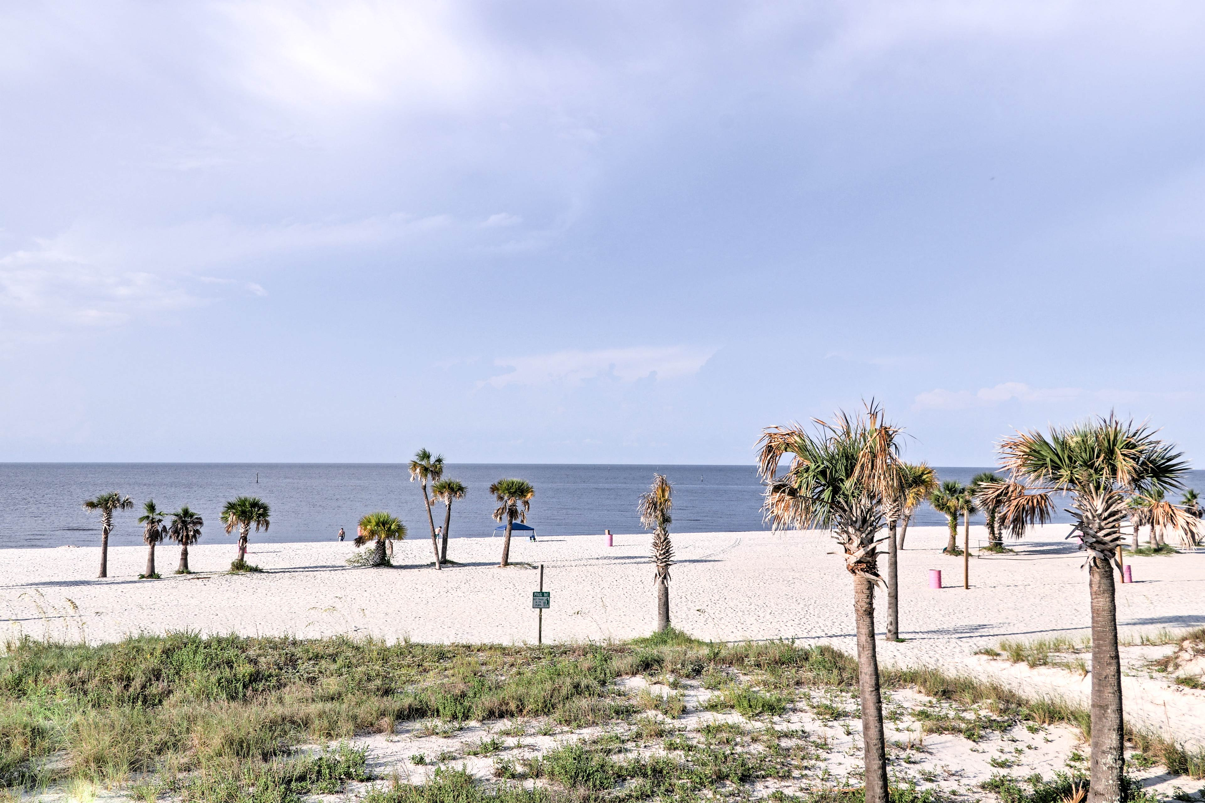 The white sand beach is just steps away from your front door!
