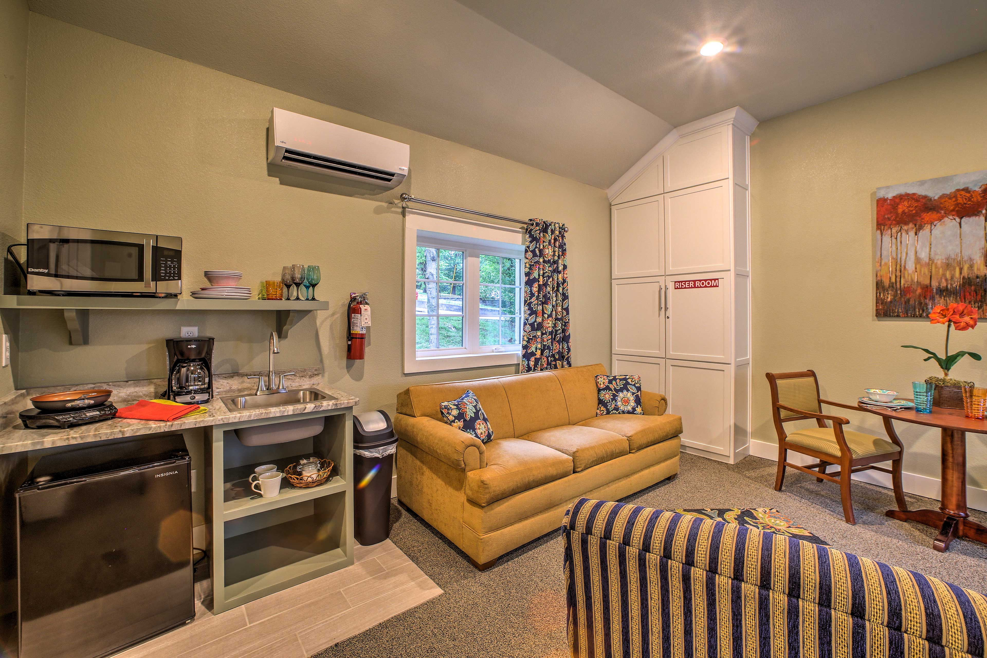 There's plenty of natural sunlight that enters the property.