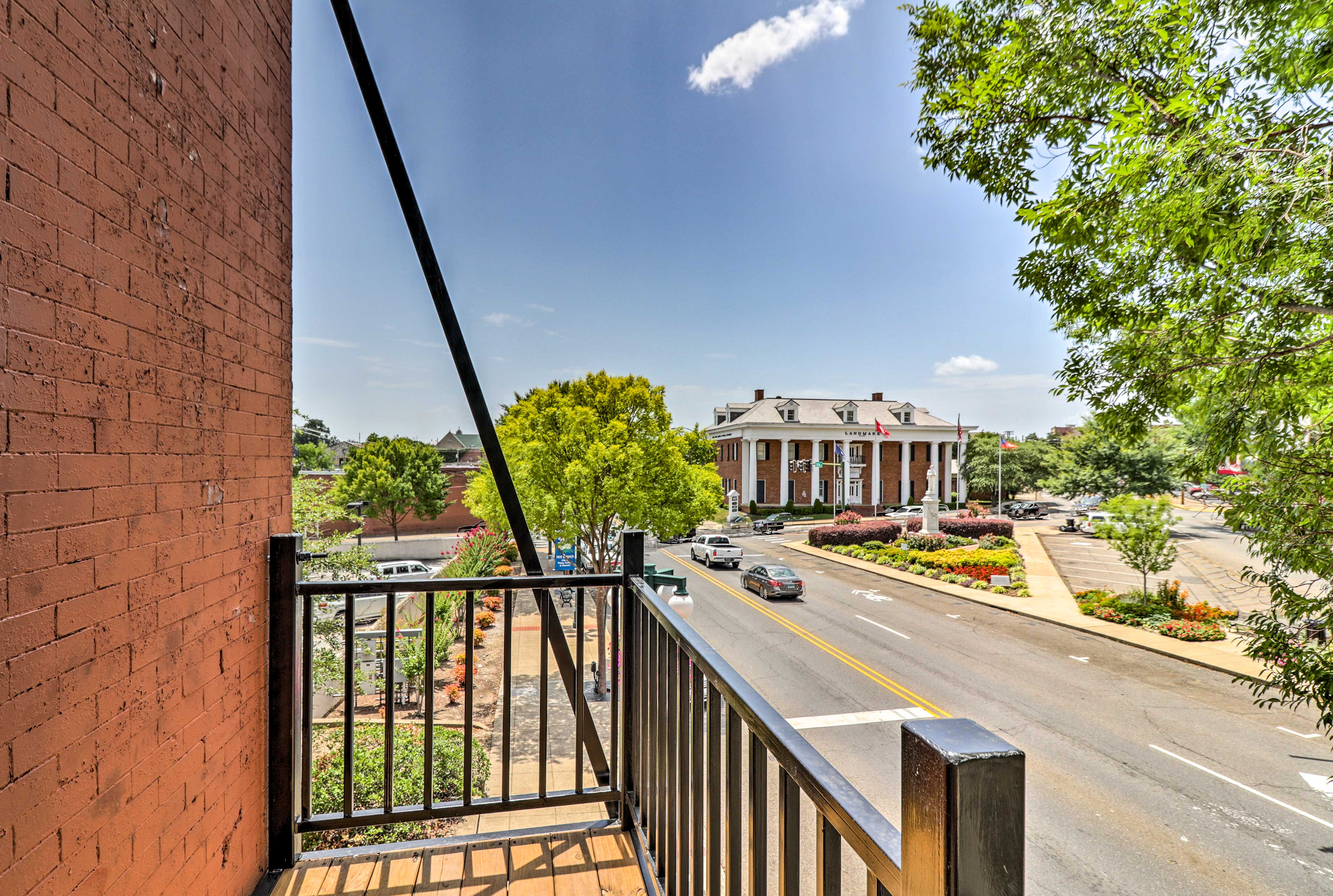 Enjoy the view of Central Avenue from one of 2 private balconies.