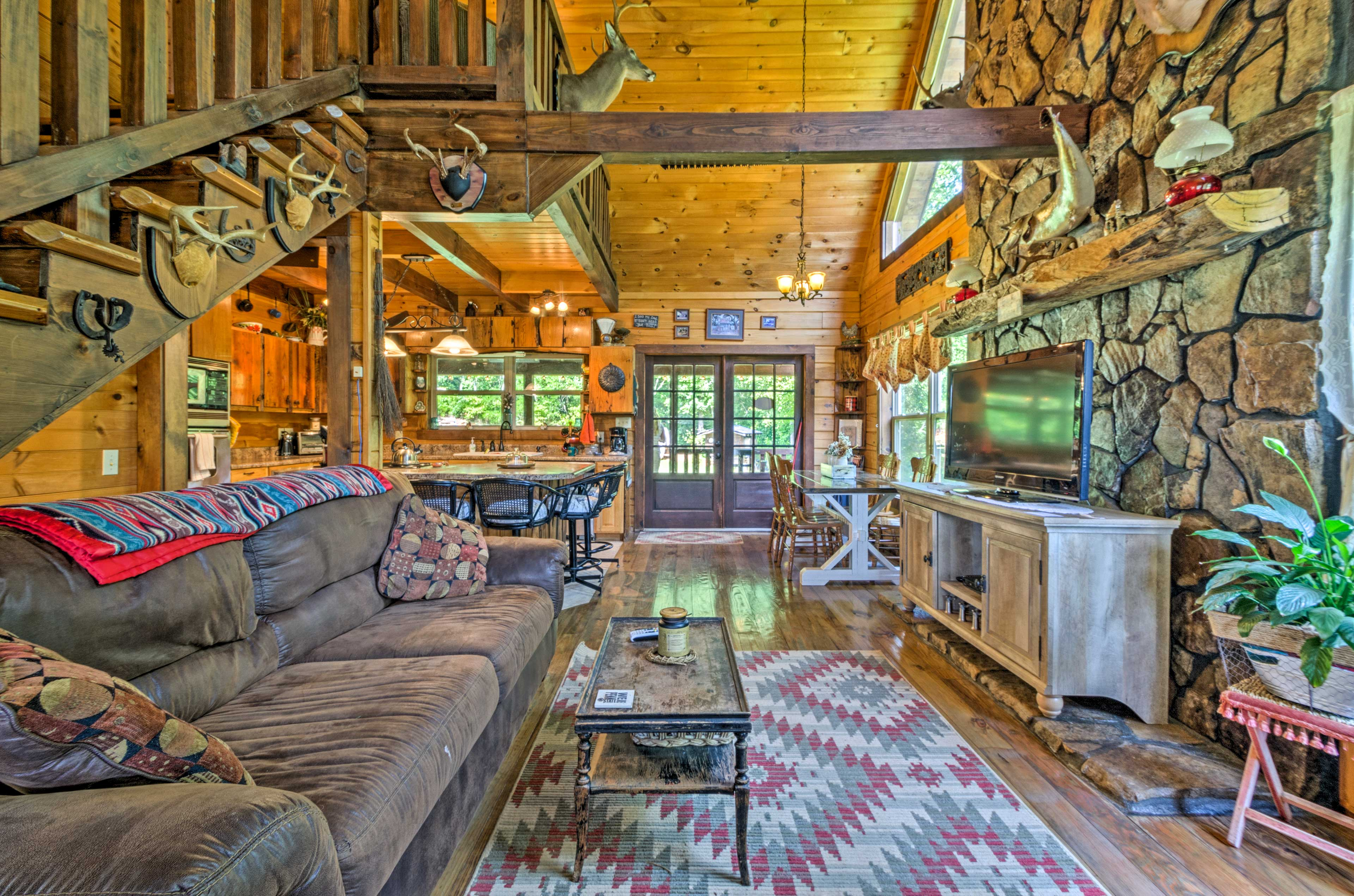 Rustic yet modern, this unique vacation rental is perfect for 10.