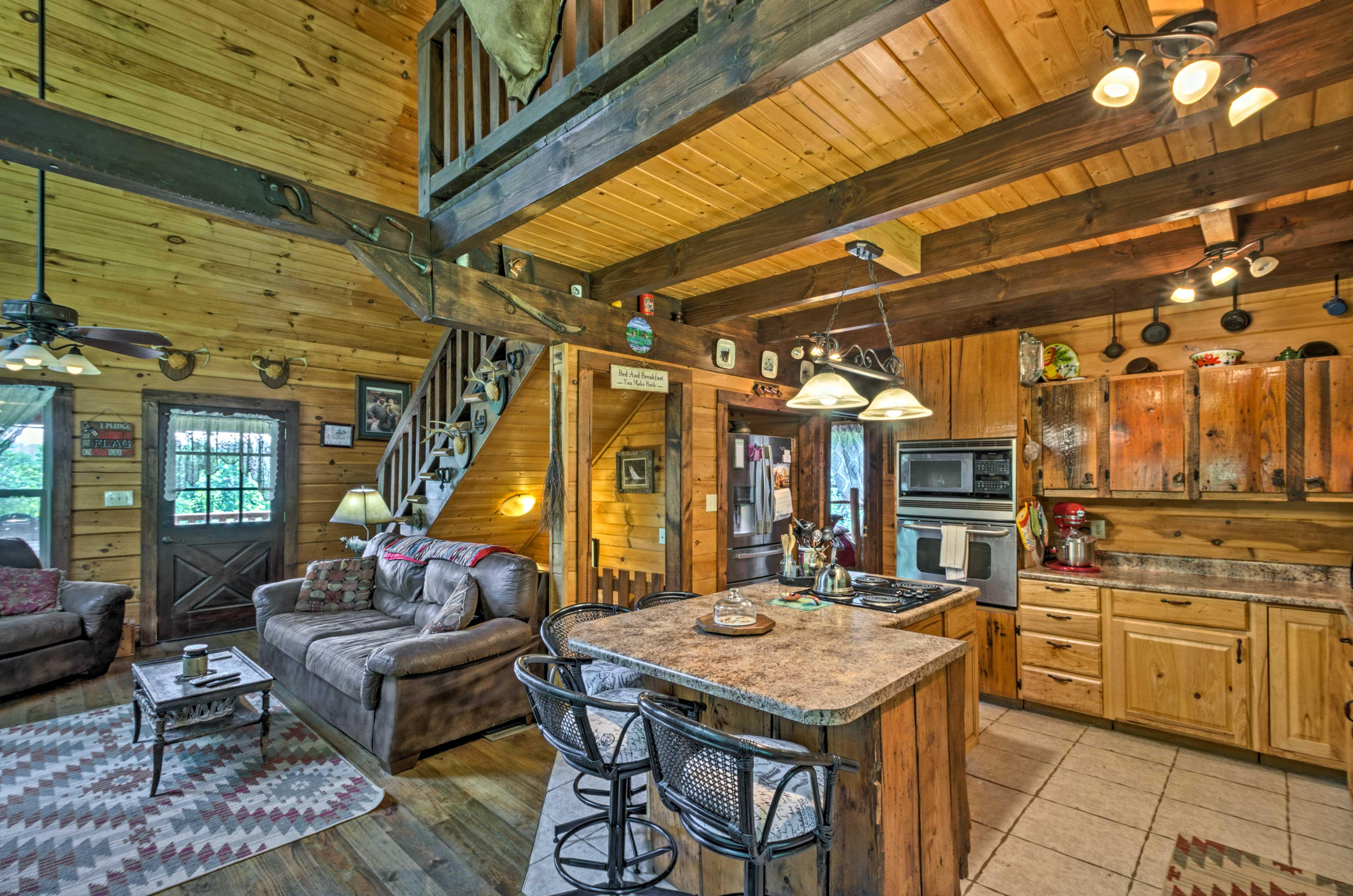 Step inside and make yourself at home in 'Gallaway Cabin.'