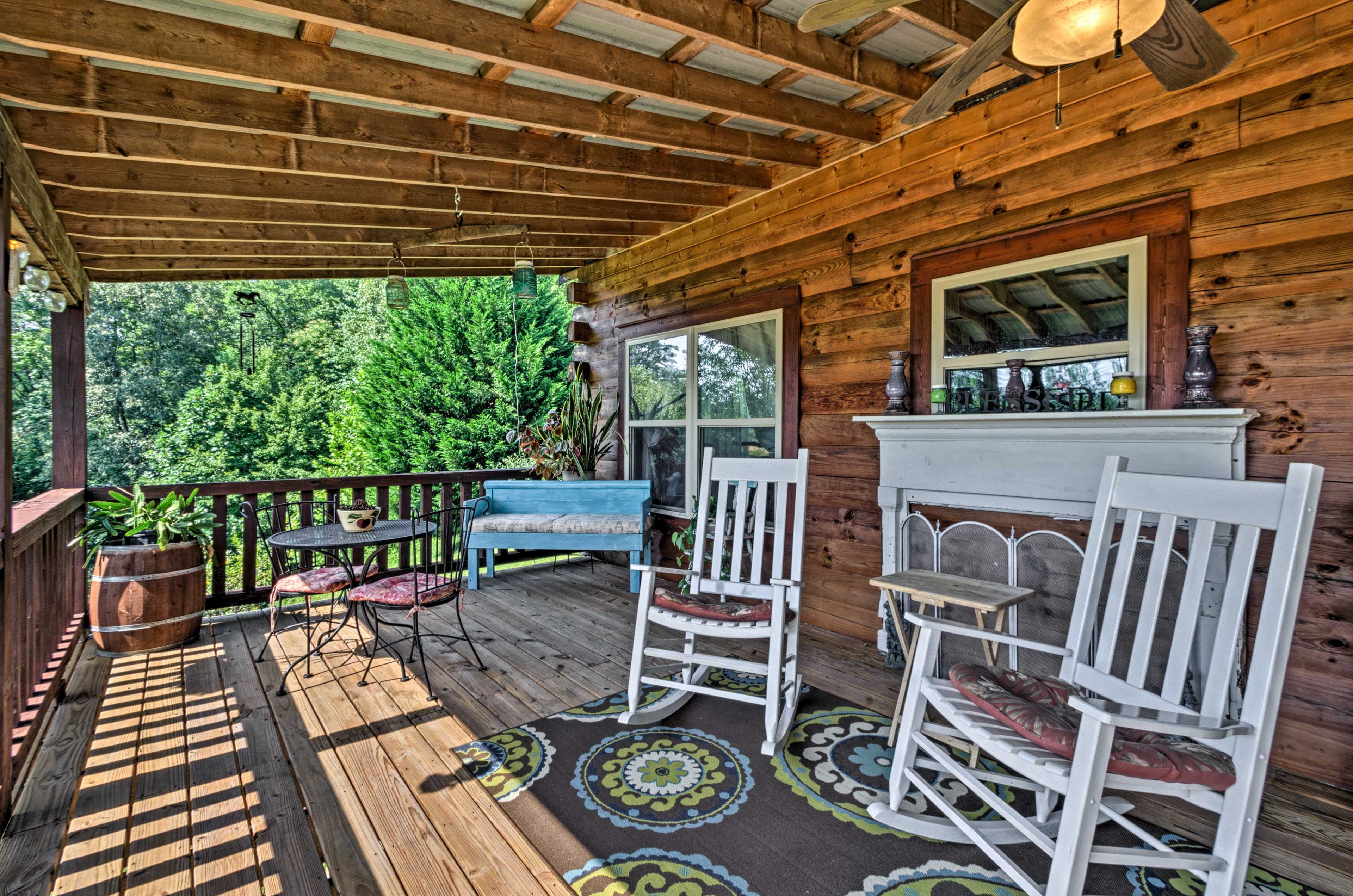 Sip your morning coffee on the covered deck to start your day.