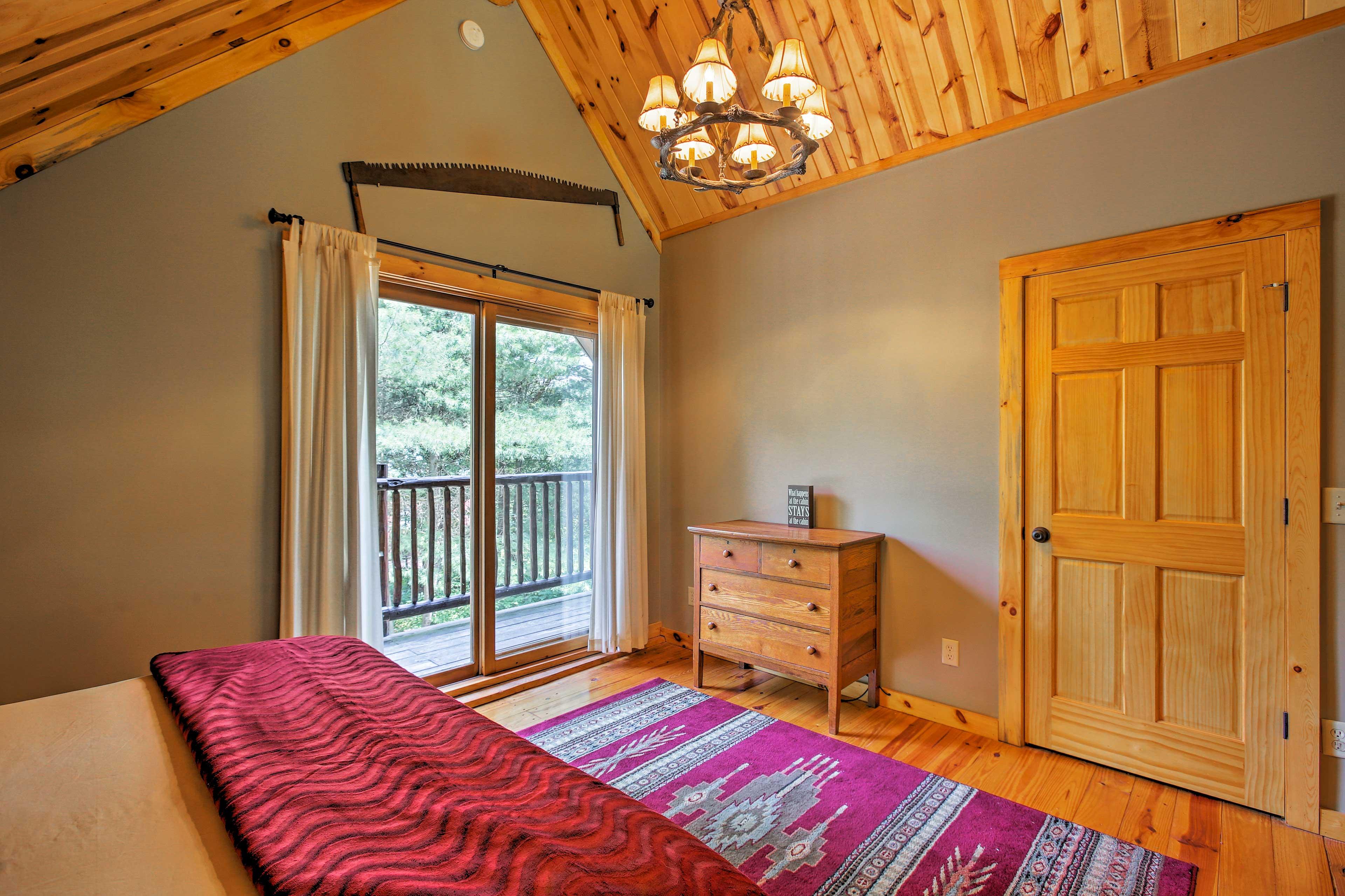 Simply slip through sliding glass doors to enjoy your private balcony.