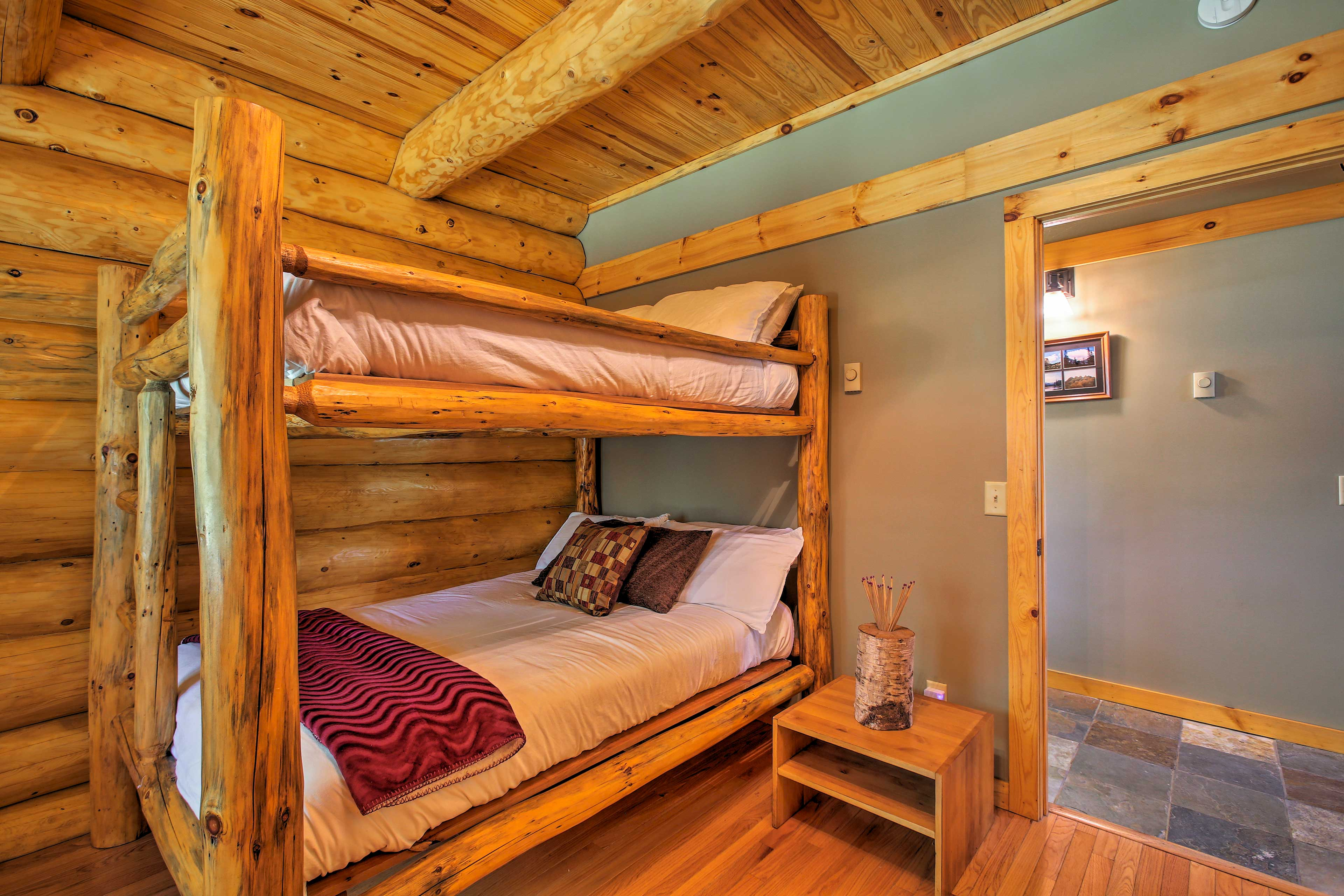 Get comfy in these full bunk beds!